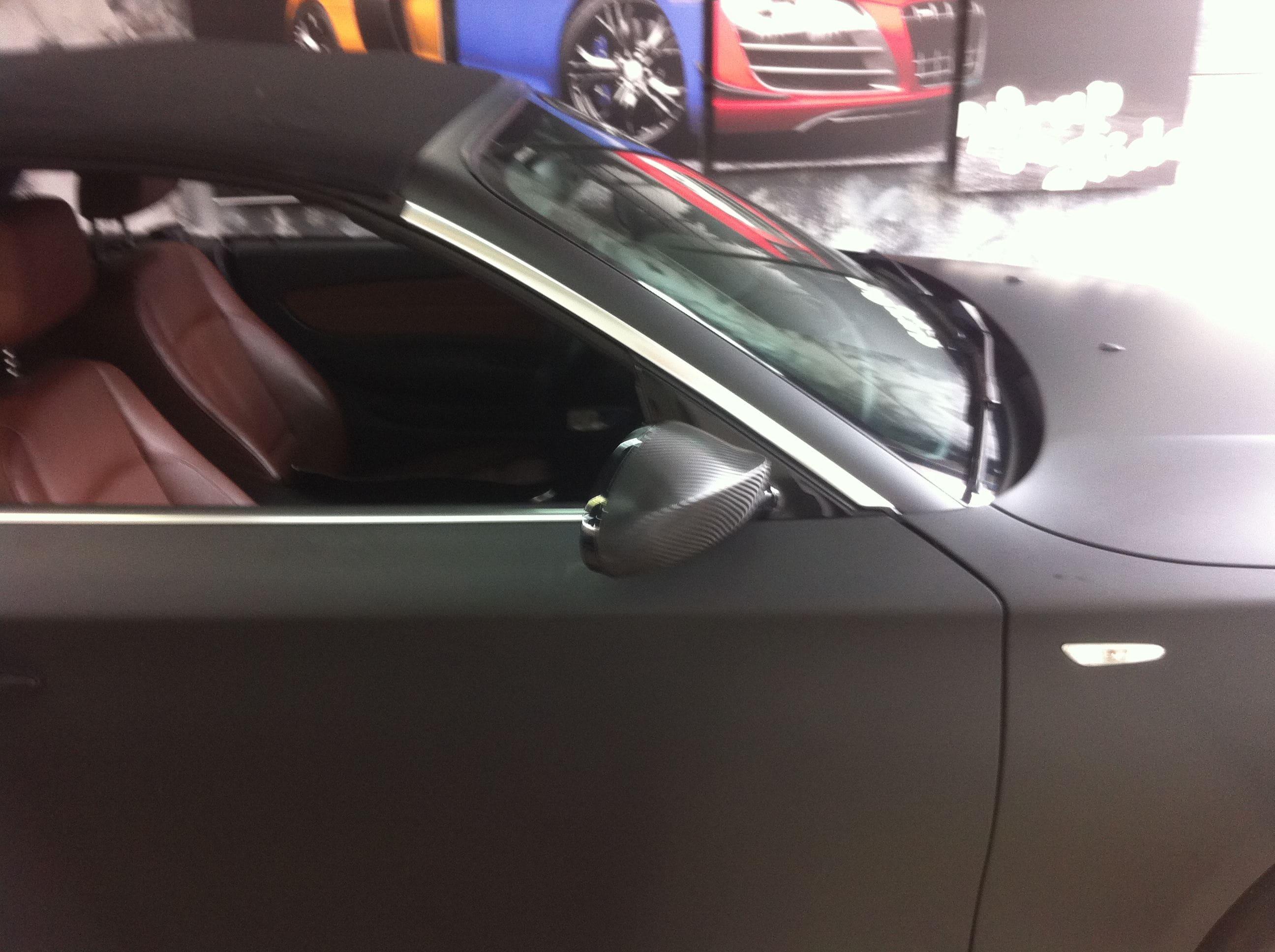 BMW 1 Serie Cabrio met Mat Zwarte Wrap, Carwrapping door Wrapmyride.nu Foto-nr:5184, ©2021
