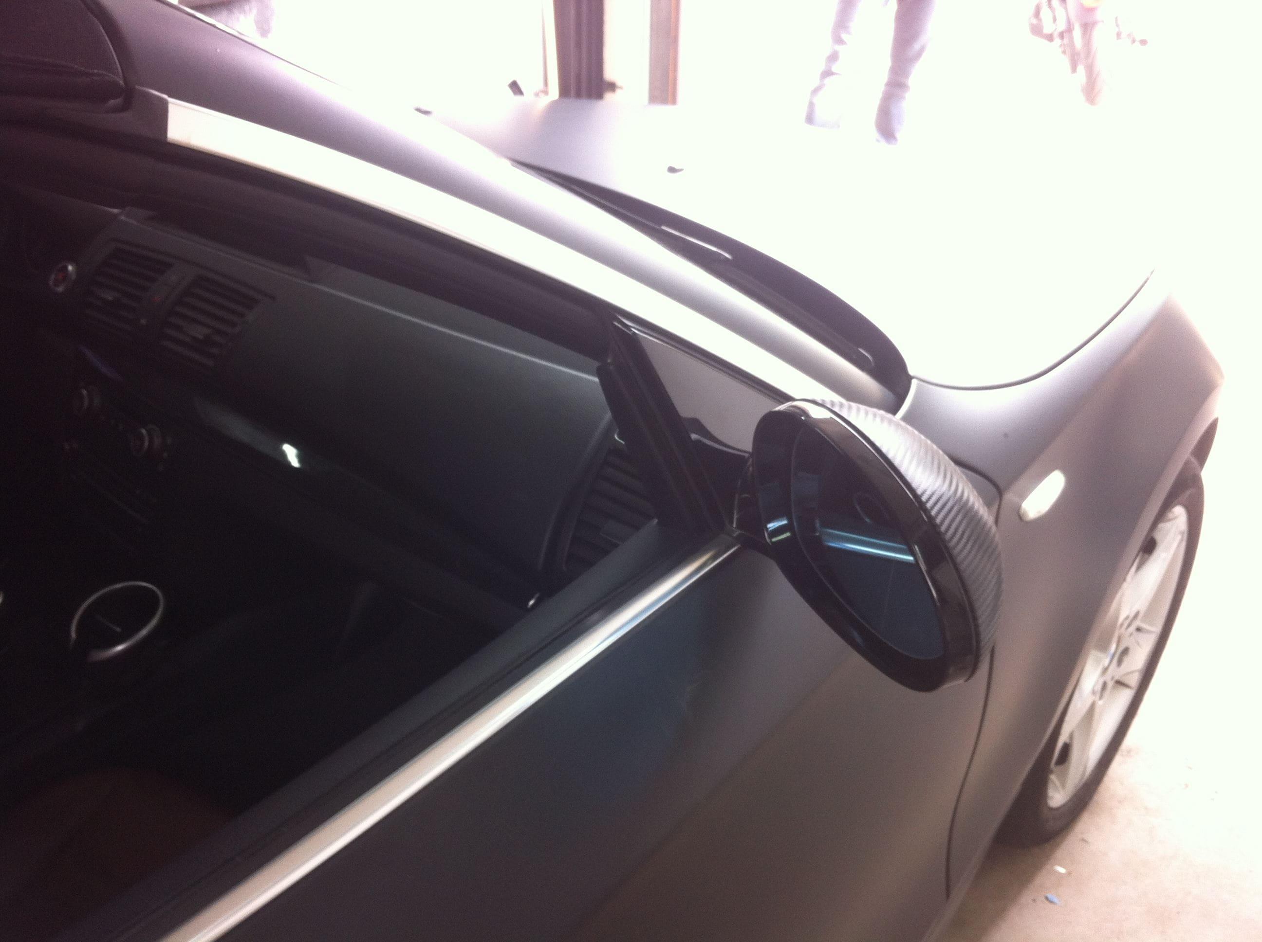 BMW 1 Serie Cabrio met Mat Zwarte Wrap, Carwrapping door Wrapmyride.nu Foto-nr:5185, ©2021