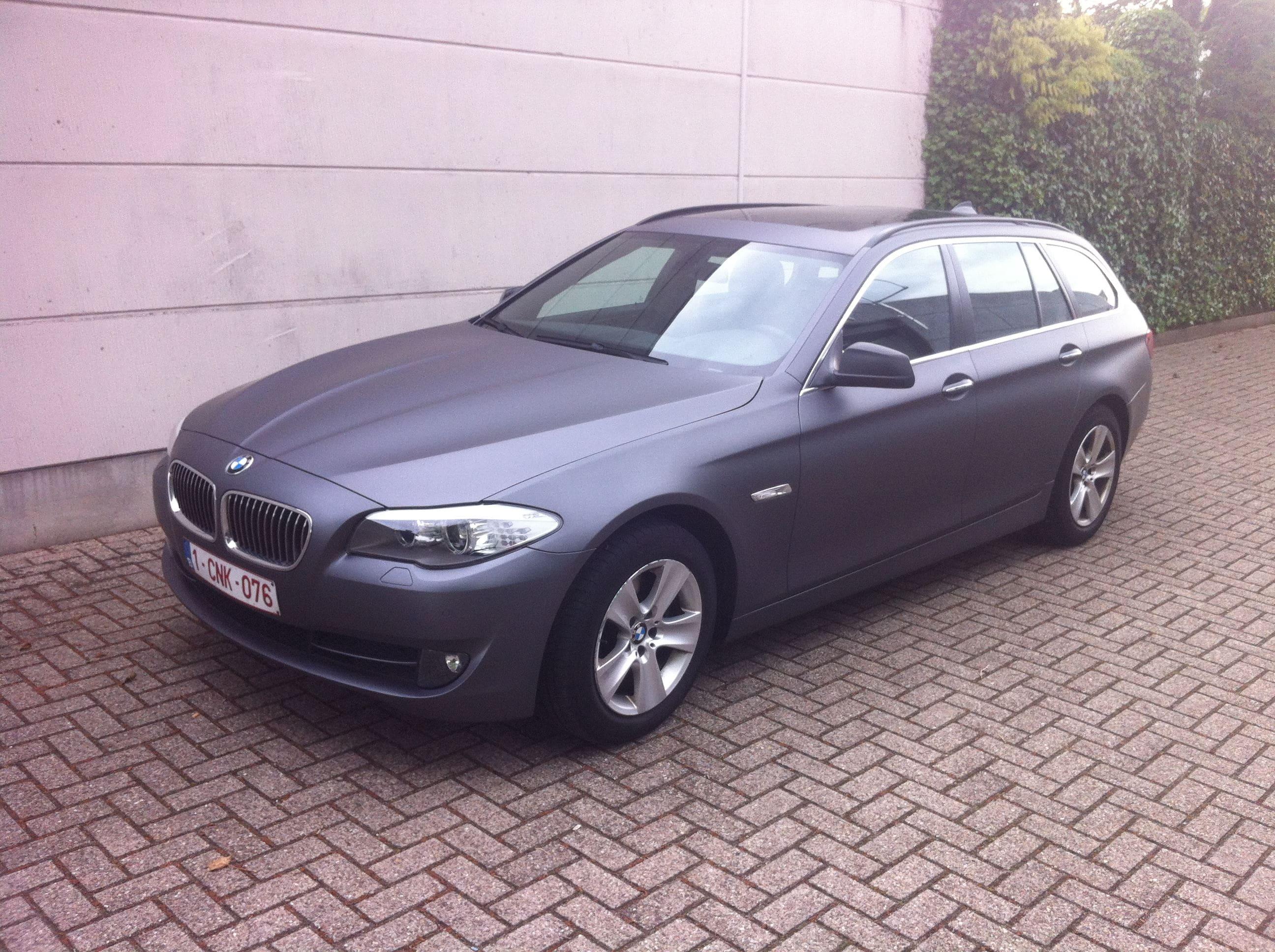 BMW 5 Serie met Gunpowder Wrap, Carwrapping door Wrapmyride.nu Foto-nr:5258, ©2021