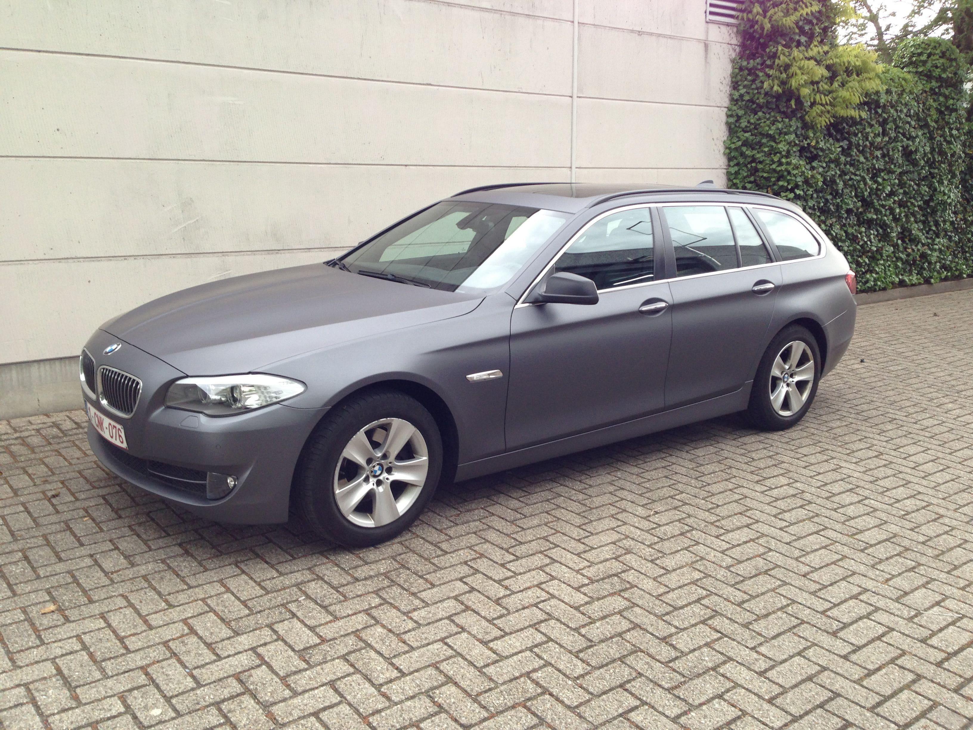 BMW 5 Serie met Gunpowder Wrap, Carwrapping door Wrapmyride.nu Foto-nr:5259, ©2021