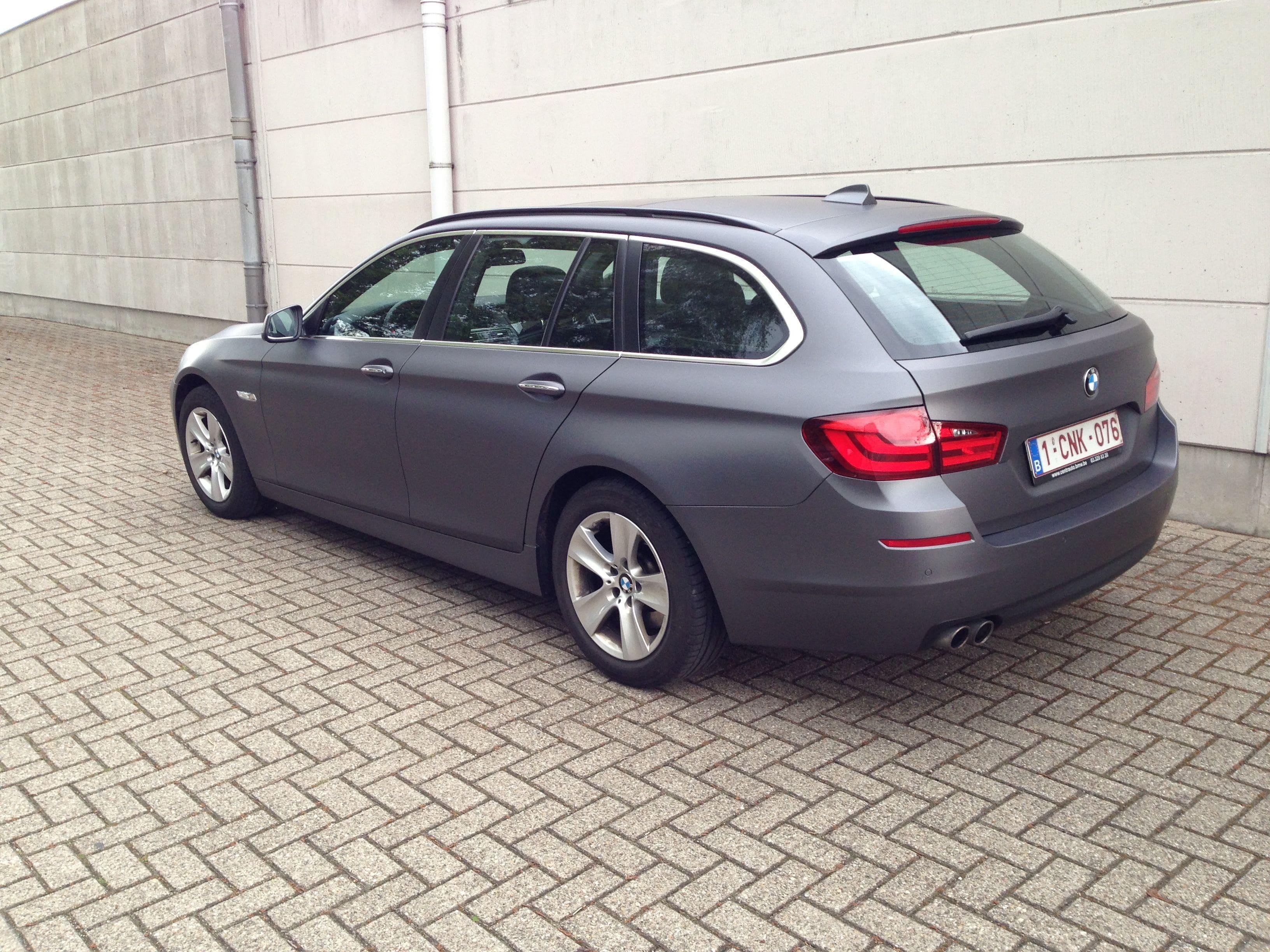 BMW 5 Serie met Gunpowder Wrap, Carwrapping door Wrapmyride.nu Foto-nr:5260, ©2021