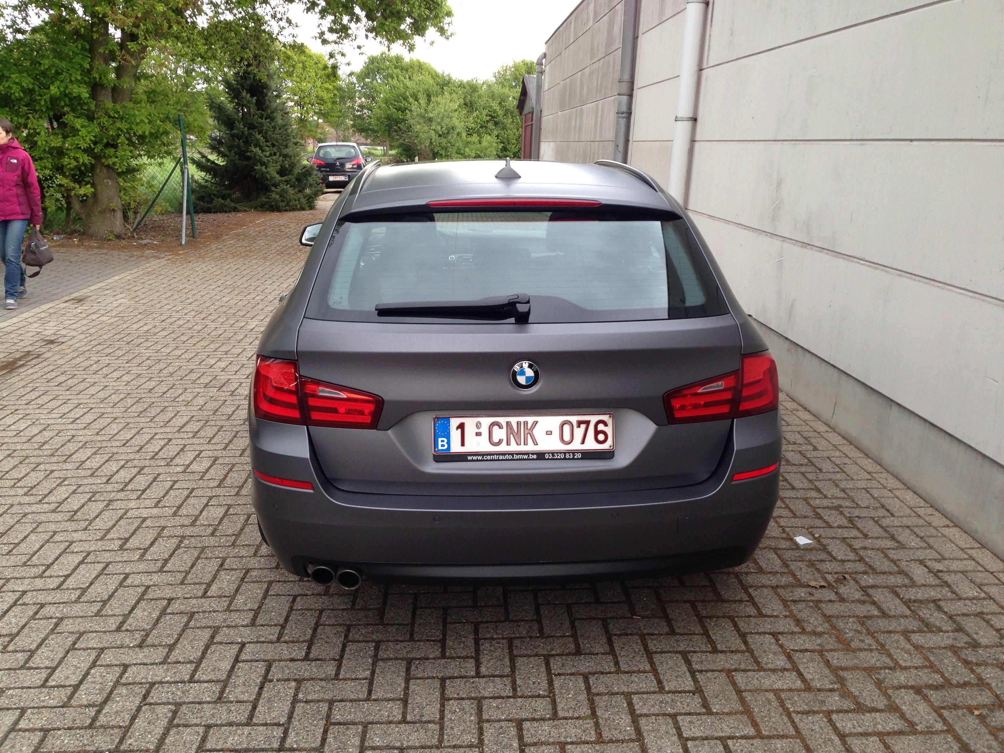 BMW 5 Serie met Gunpowder Wrap, Carwrapping door Wrapmyride.nu Foto-nr:5261, ©2021