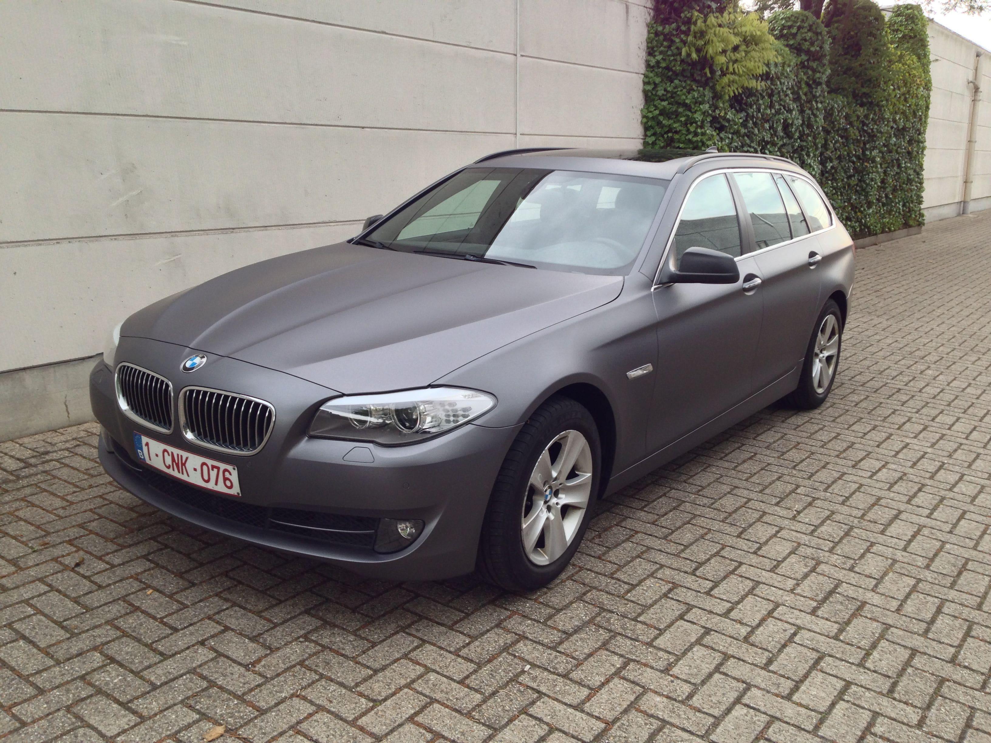 BMW 5 Serie met Gunpowder Wrap, Carwrapping door Wrapmyride.nu Foto-nr:5264, ©2021
