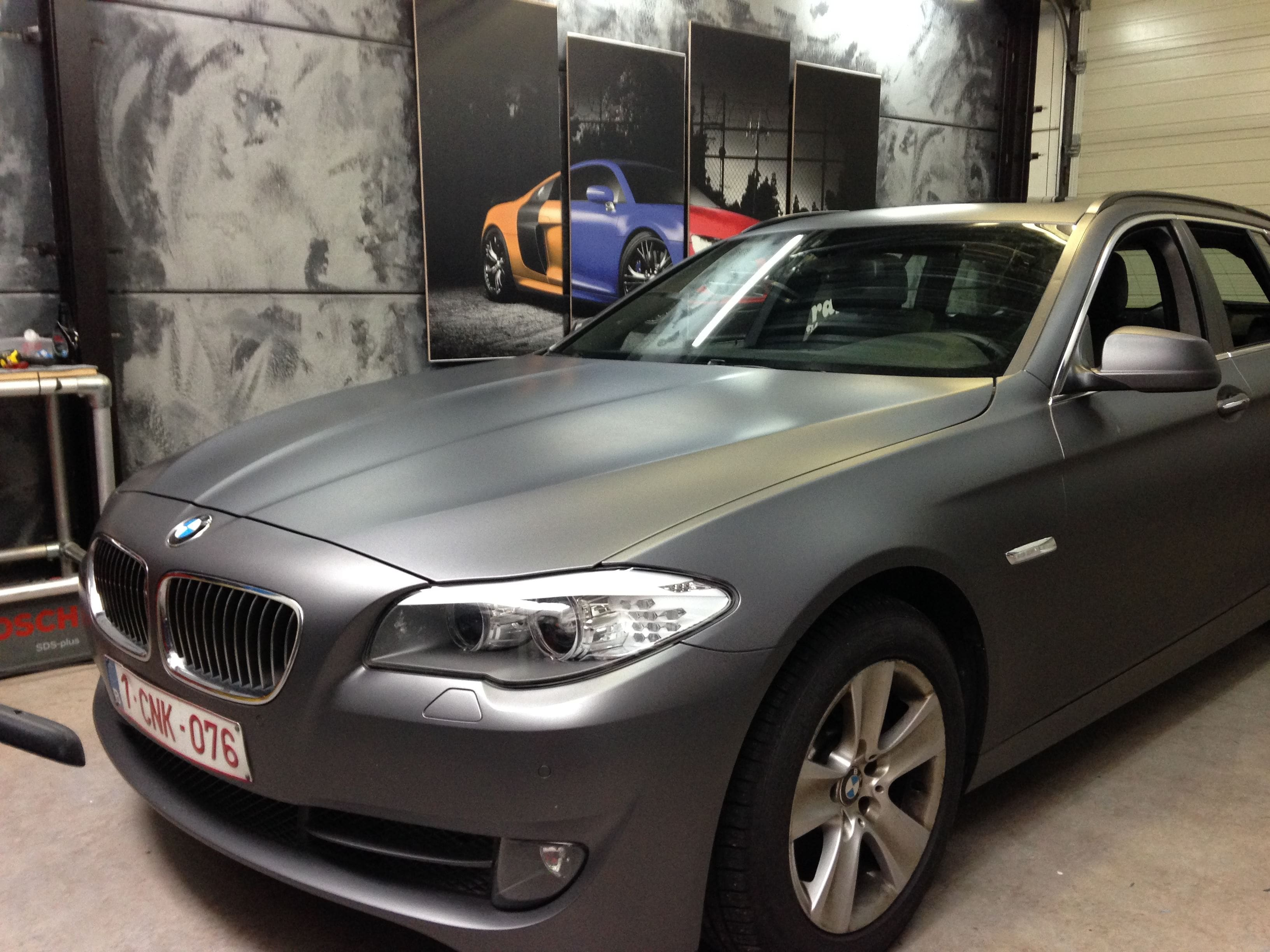 BMW 5 Serie met Gunpowder Wrap, Carwrapping door Wrapmyride.nu Foto-nr:5266, ©2021