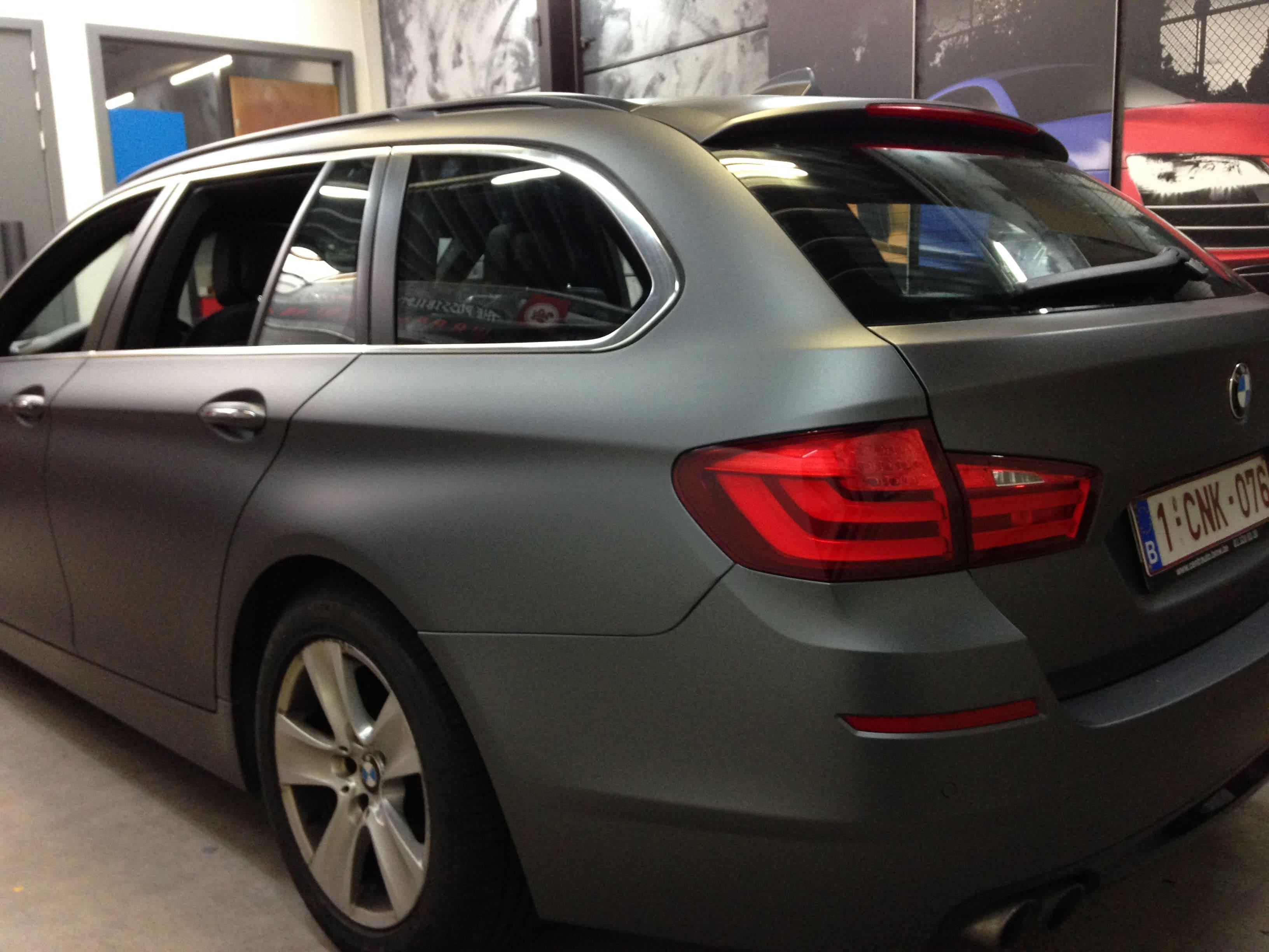 BMW 5 Serie met Gunpowder Wrap, Carwrapping door Wrapmyride.nu Foto-nr:5267, ©2021
