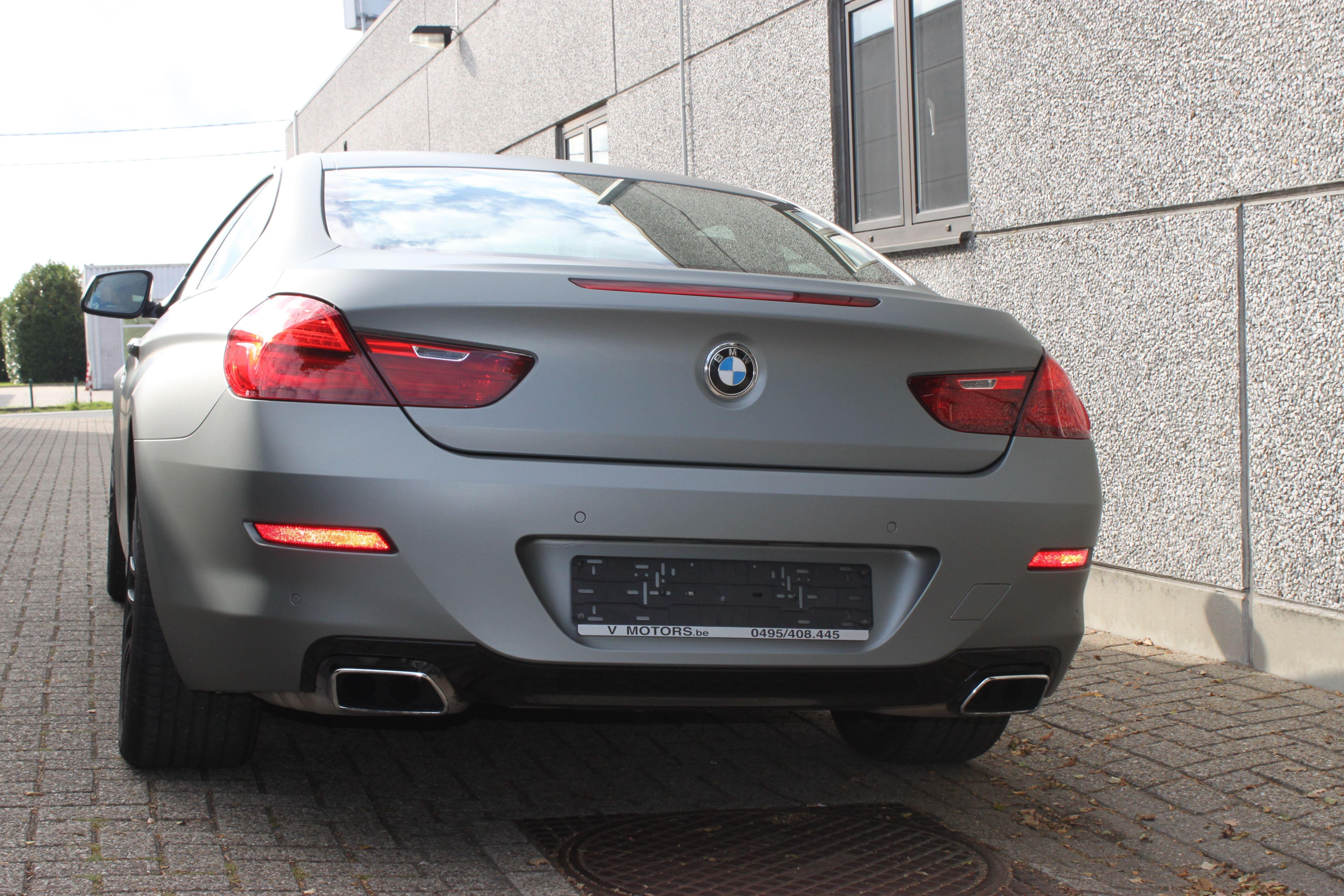 BMW 650i met Mat Antraciet Metallic Avery Wrap, Carwrapping door Wrapmyride.nu Foto-nr:5277, ©2020