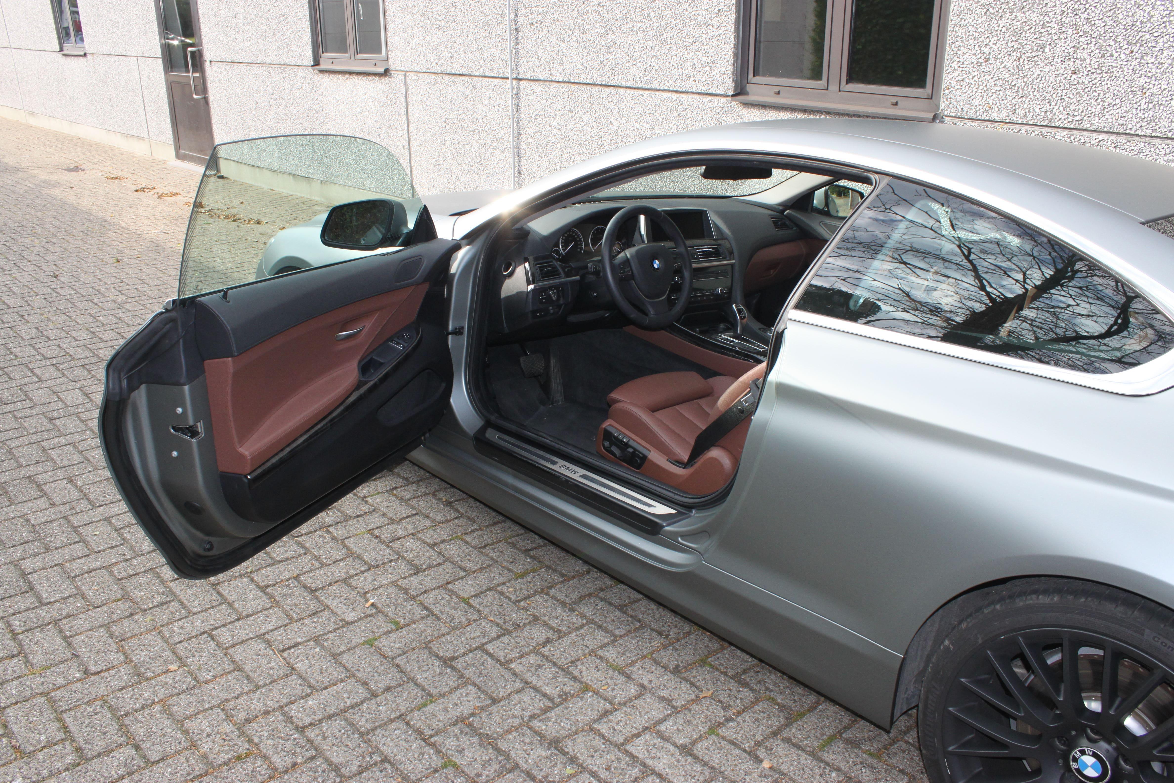 BMW 650i met Mat Antraciet Metallic Avery Wrap, Carwrapping door Wrapmyride.nu Foto-nr:5278, ©2020