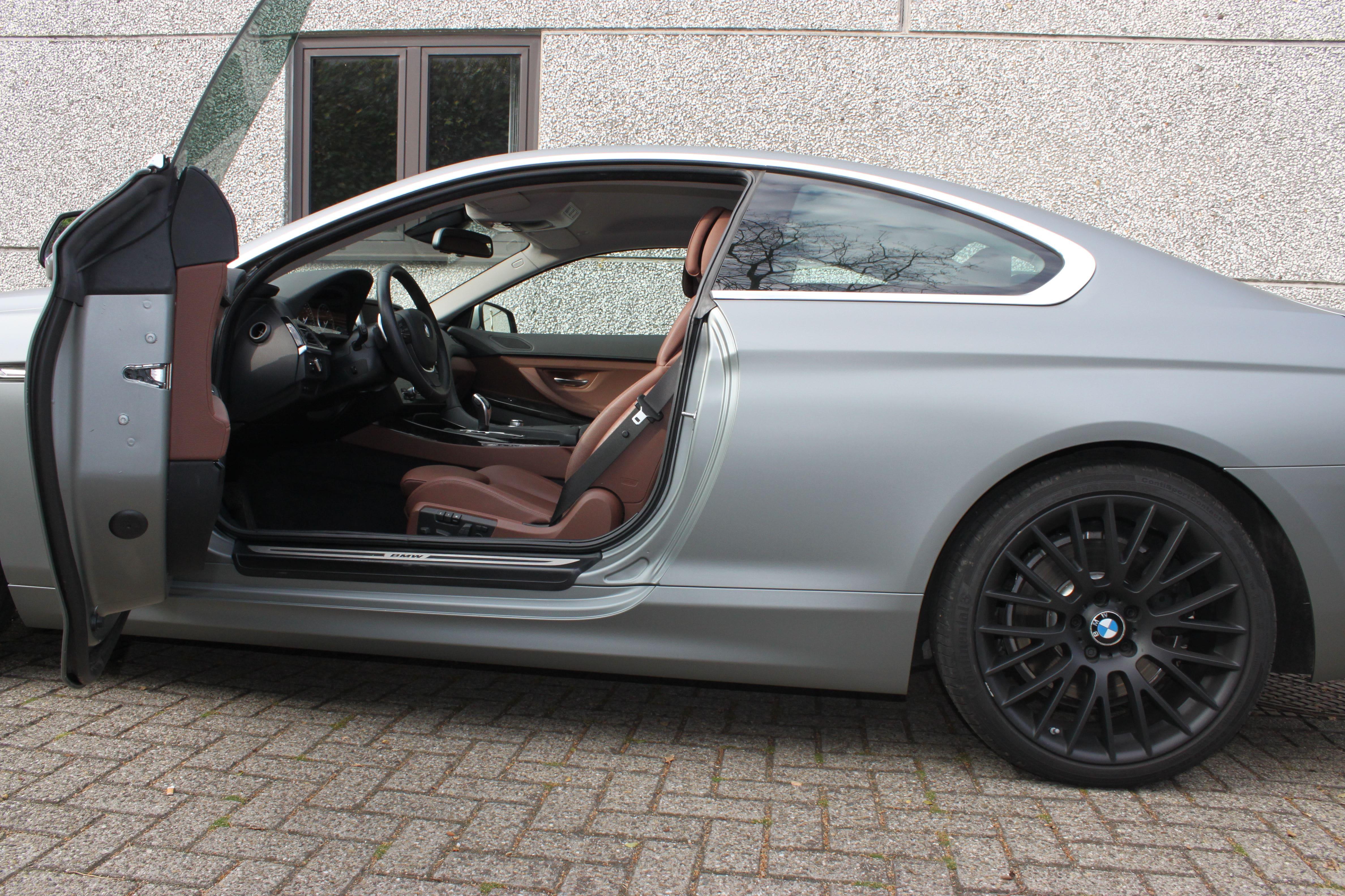 BMW 650i met Mat Antraciet Metallic Avery Wrap, Carwrapping door Wrapmyride.nu Foto-nr:5279, ©2020