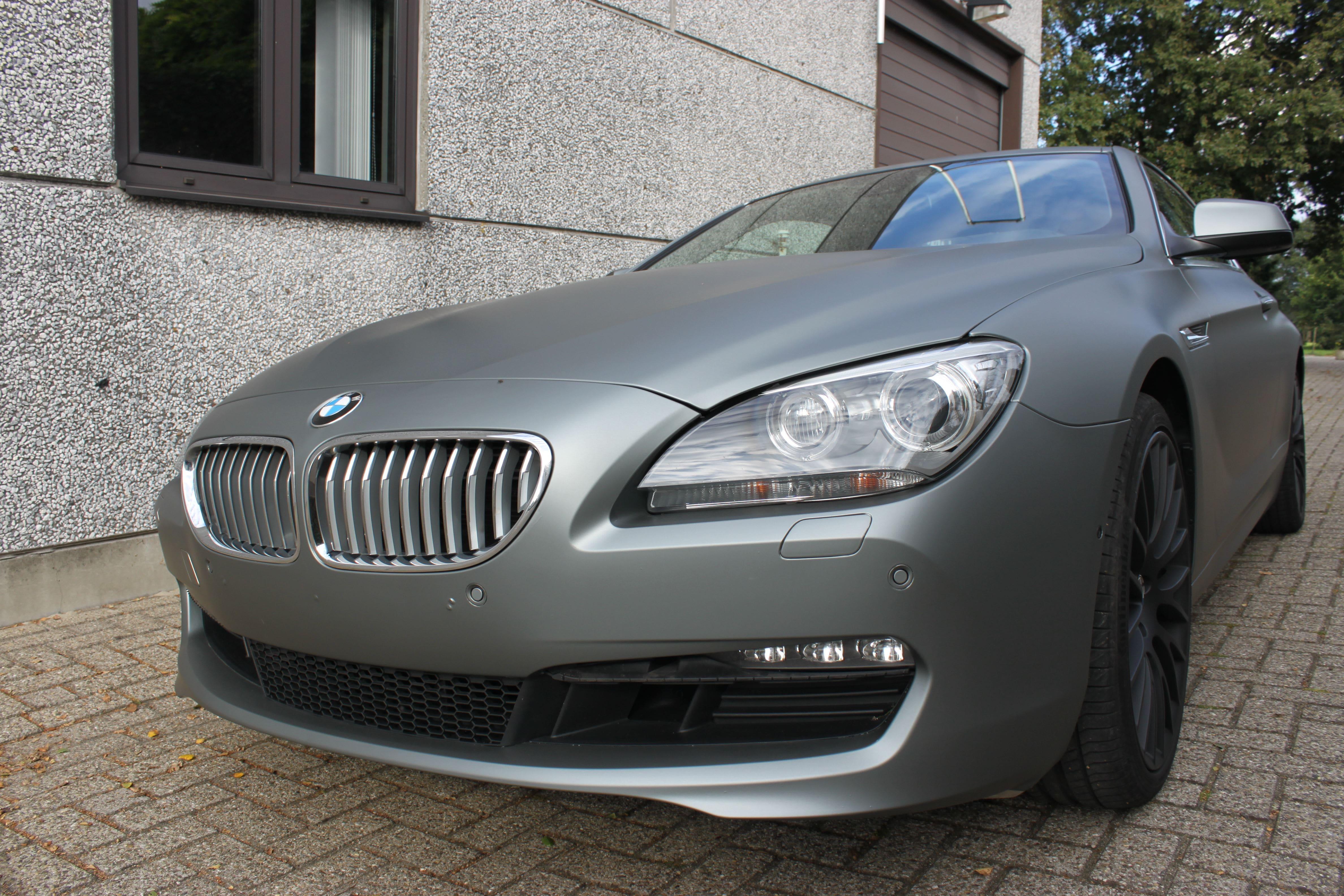 BMW 650i met Mat Antraciet Metallic Avery Wrap, Carwrapping door Wrapmyride.nu Foto-nr:5281, ©2020