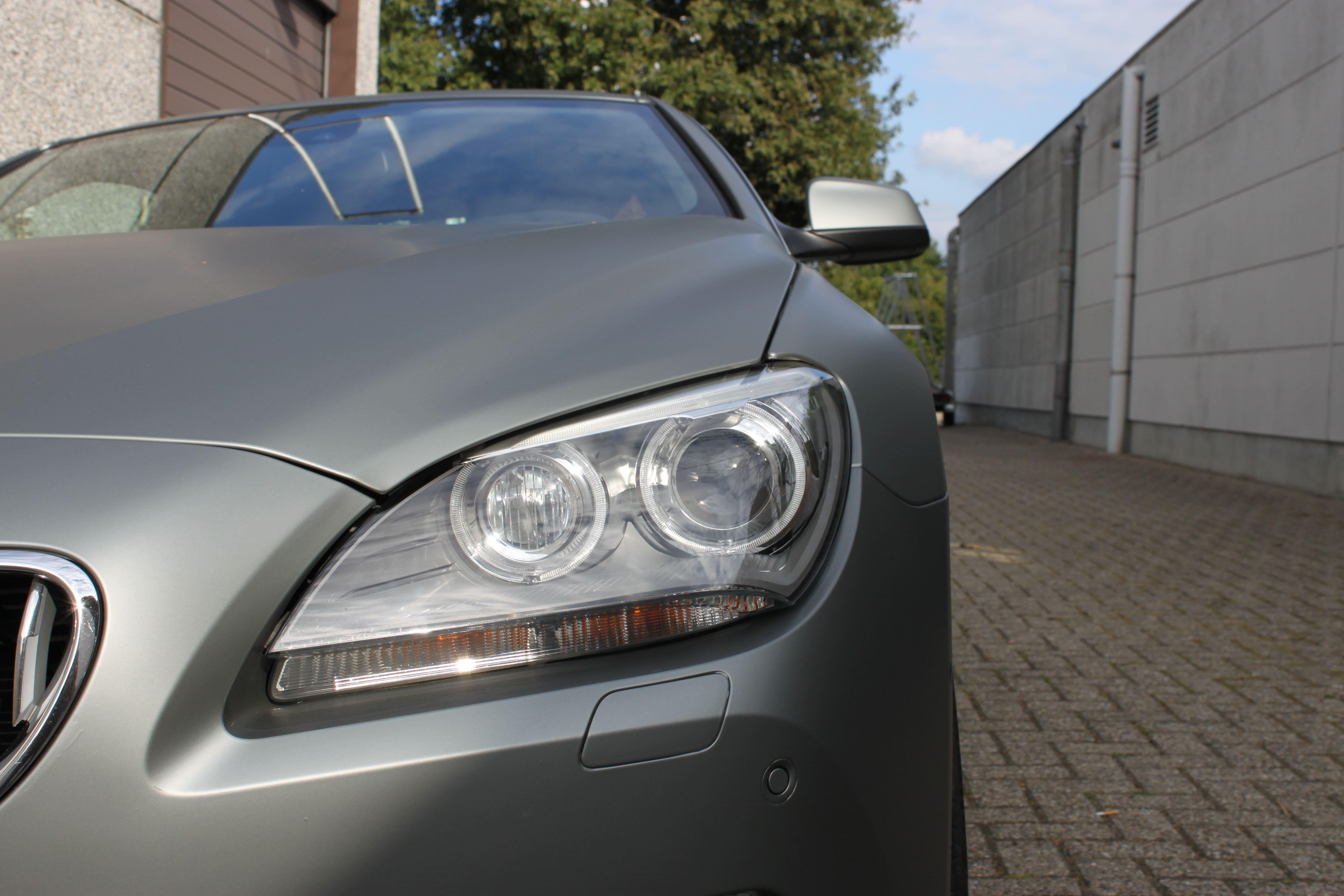 BMW 650i met Mat Antraciet Metallic Avery Wrap, Carwrapping door Wrapmyride.nu Foto-nr:5284, ©2020