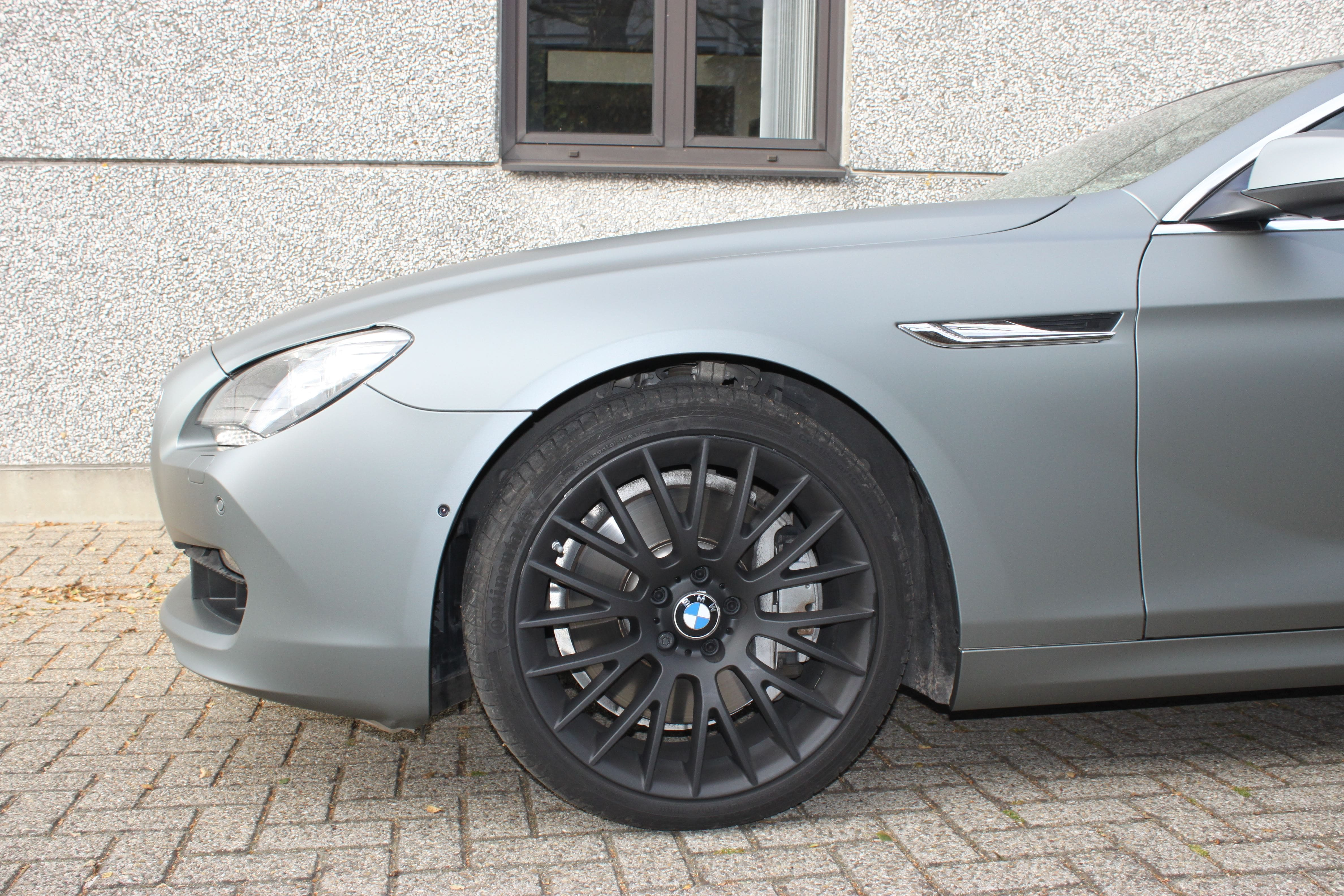 BMW 650i met Mat Antraciet Metallic Avery Wrap, Carwrapping door Wrapmyride.nu Foto-nr:5286, ©2020