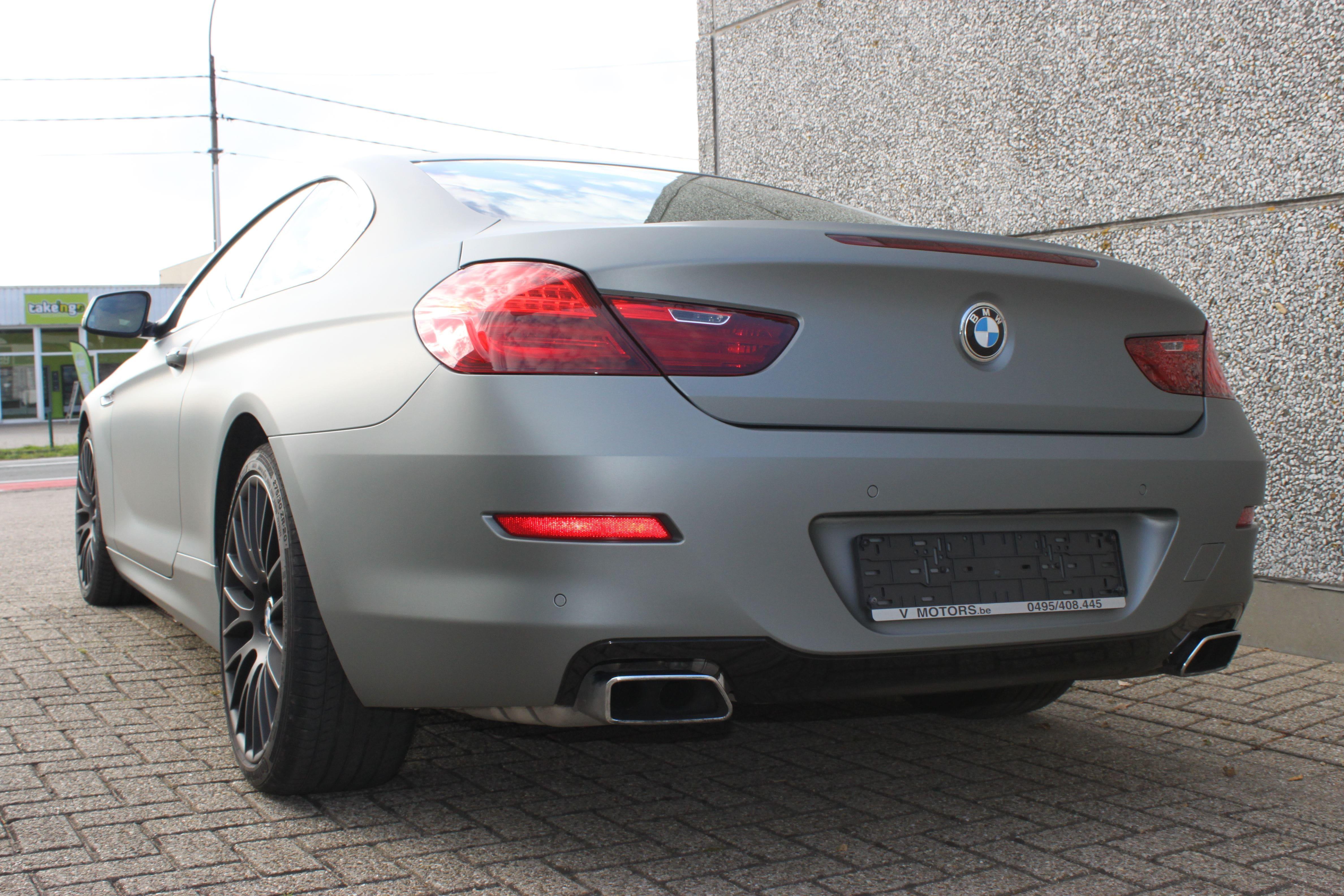 BMW 650i met Mat Antraciet Metallic Avery Wrap, Carwrapping door Wrapmyride.nu Foto-nr:5290, ©2020