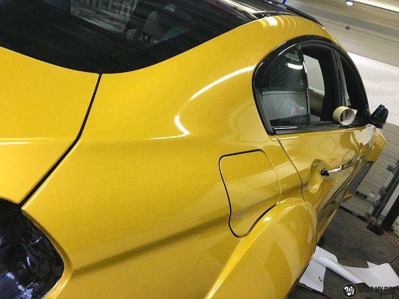 BMW 650i prior-design Solar Yellow, Carwrapping door Wrapmyride.nu Foto-nr:11070, ©2020