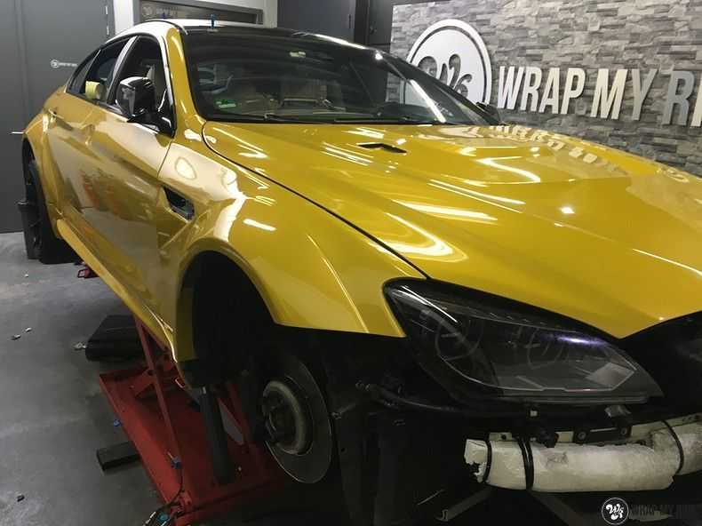 BMW 650i prior-design Solar Yellow, Carwrapping door Wrapmyride.nu Foto-nr:11072, ©2020