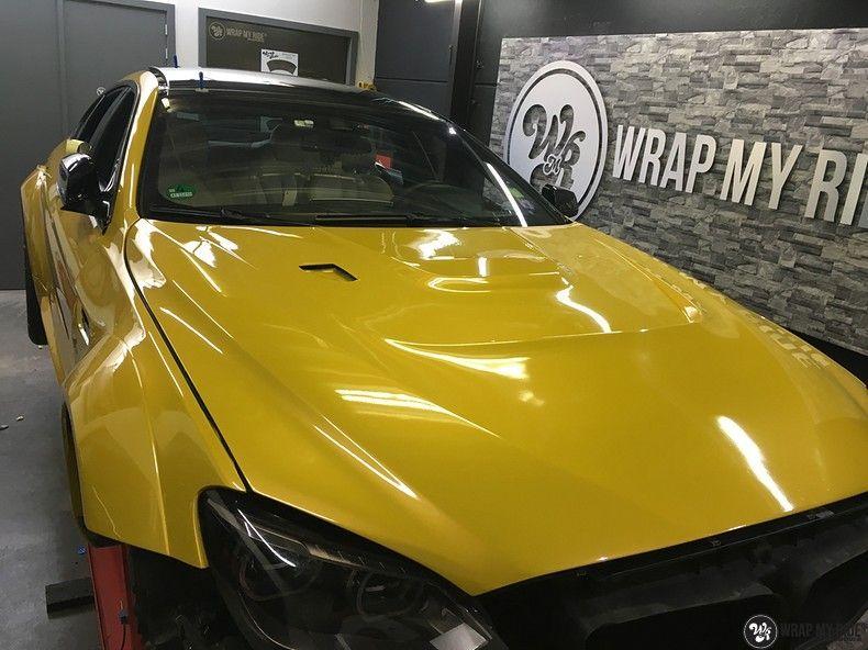 BMW 650i prior-design Solar Yellow, Carwrapping door Wrapmyride.nu Foto-nr:11074, ©2020
