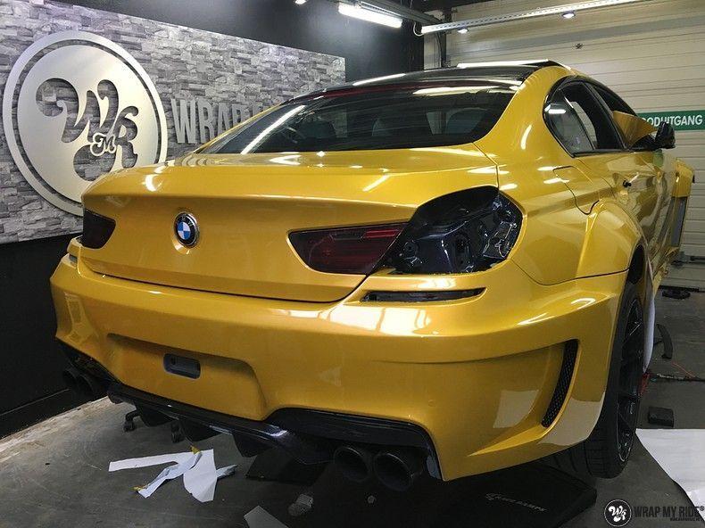 BMW 650i prior-design Solar Yellow, Carwrapping door Wrapmyride.nu Foto-nr:11077, ©2020