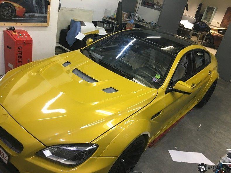 BMW 650i prior-design Solar Yellow, Carwrapping door Wrapmyride.nu Foto-nr:11081, ©2020