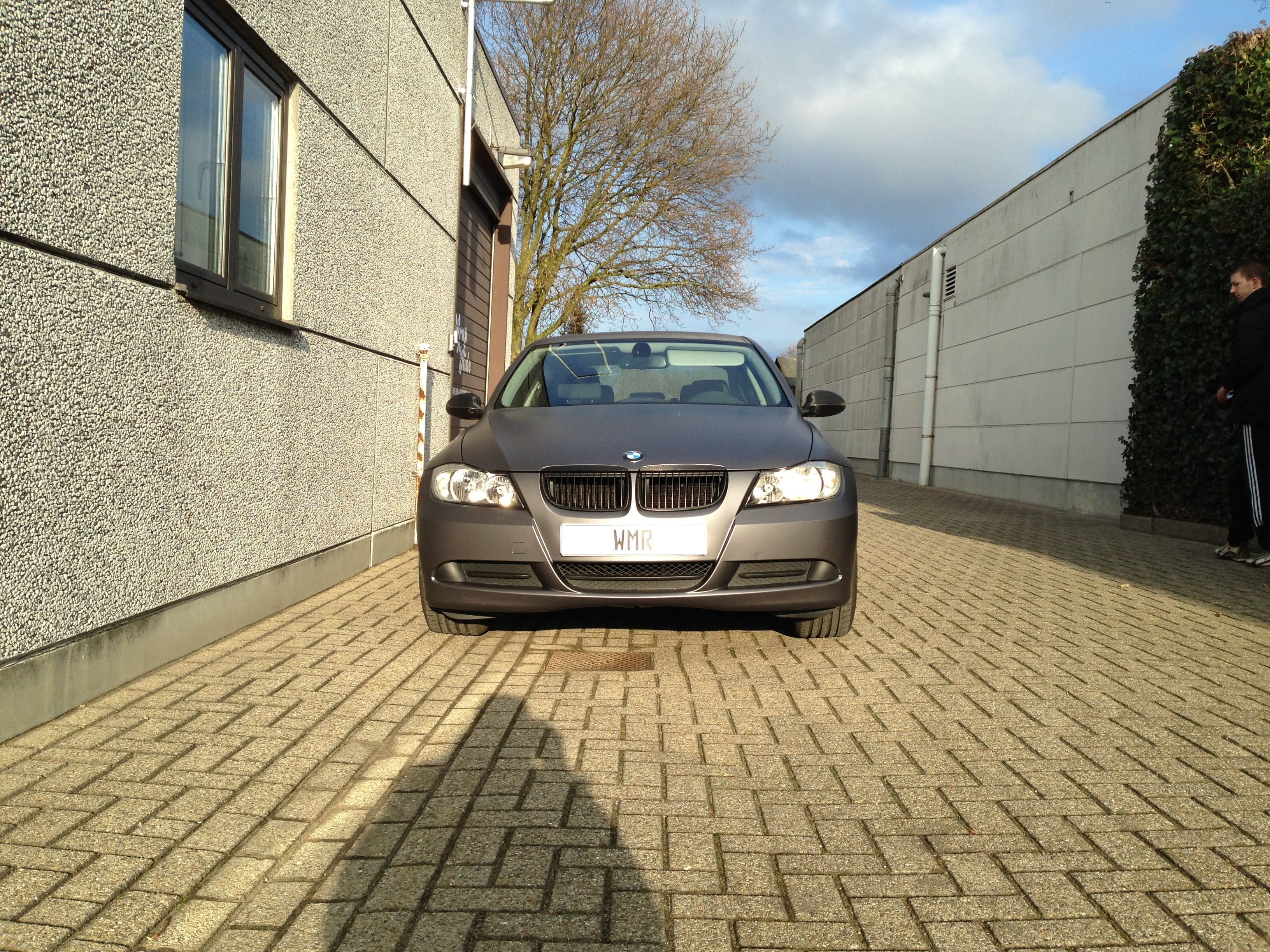 BMW E90 met Gunpowder Wrap, Carwrapping door Wrapmyride.nu Foto-nr:5374, ©2021
