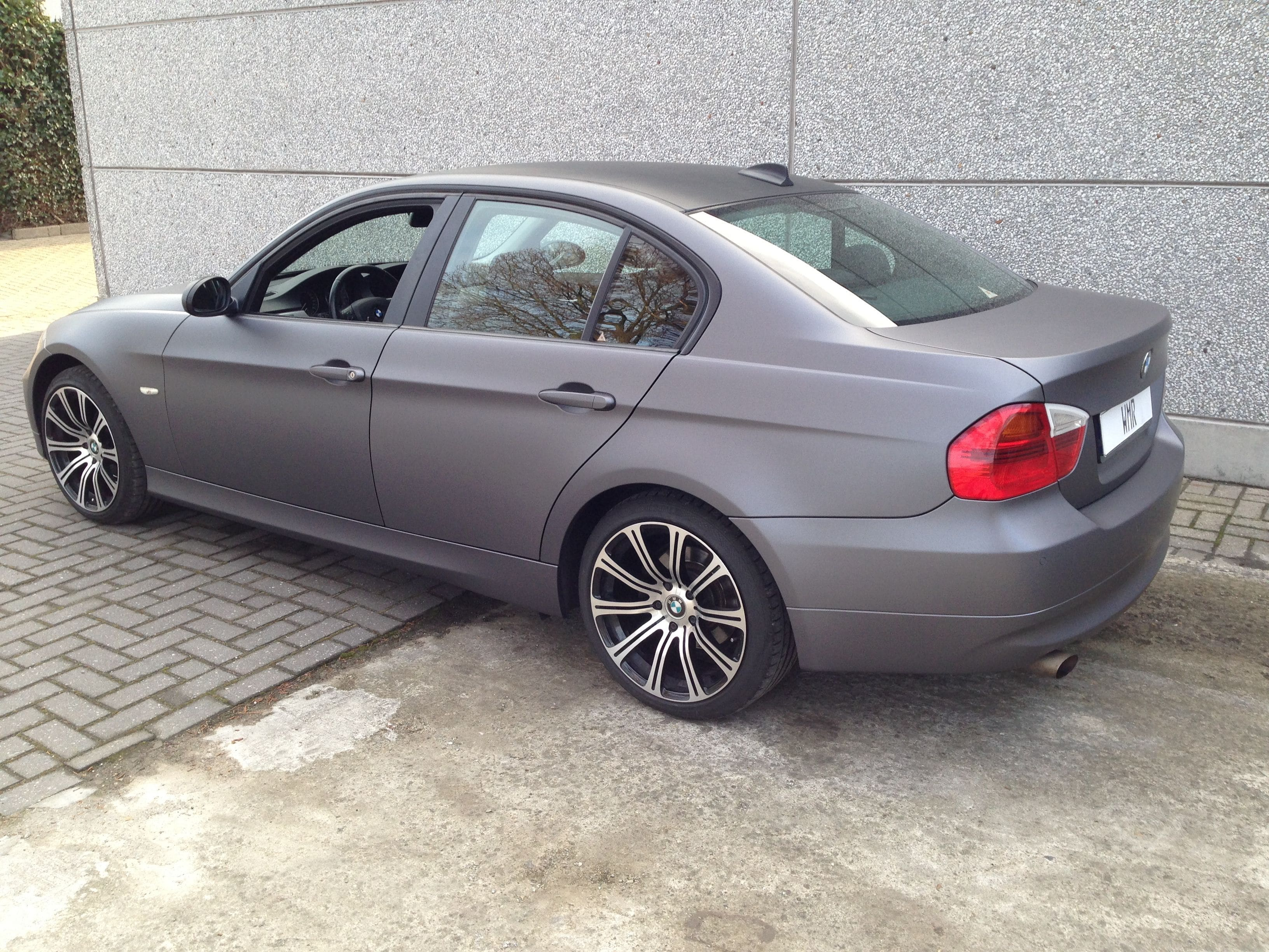 BMW E90 met Gunpowder Wrap, Carwrapping door Wrapmyride.nu Foto-nr:5388, ©2021