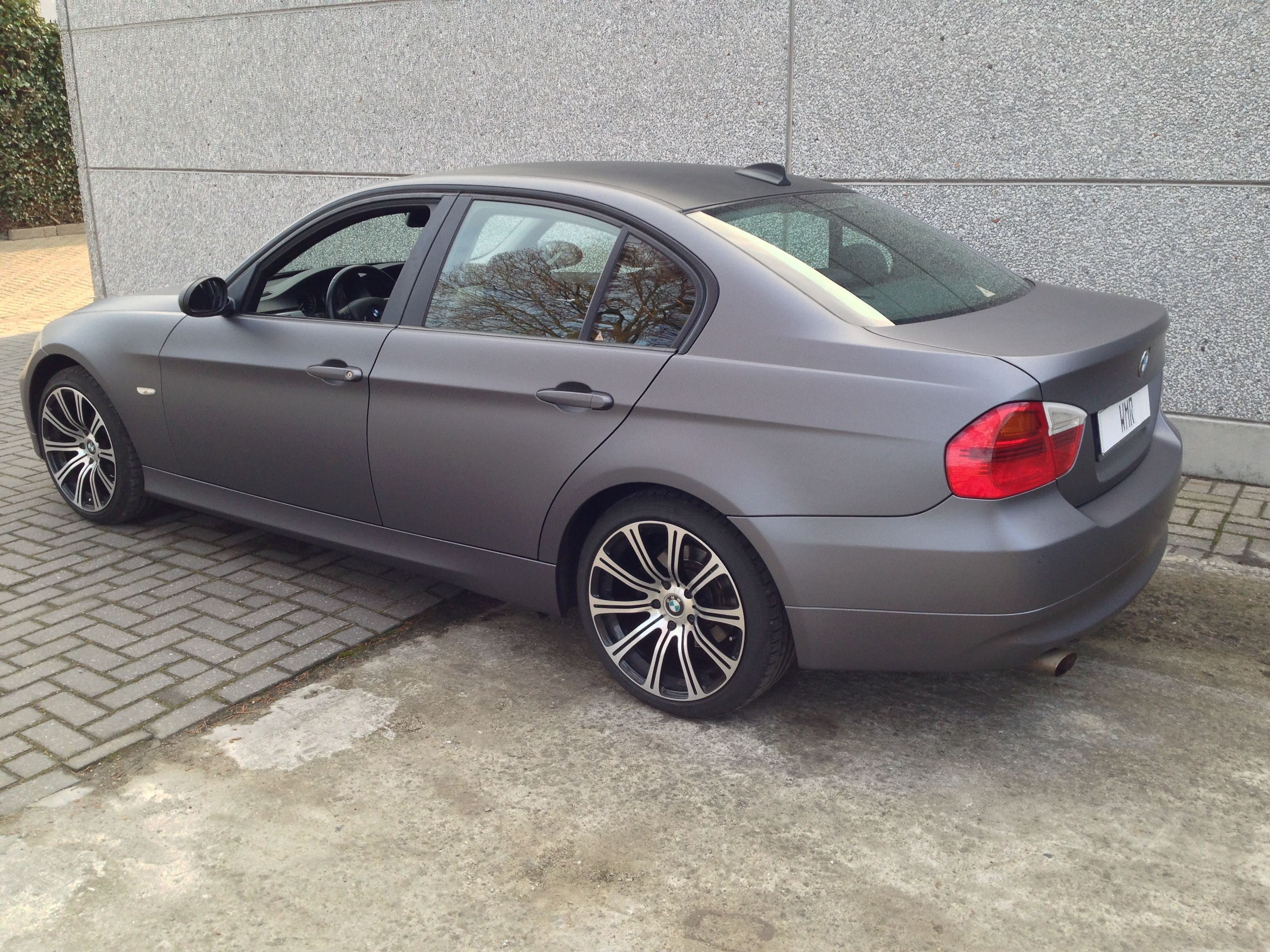 BMW E90 met Gunpowder Wrap, Carwrapping door Wrapmyride.nu Foto-nr:5389, ©2021