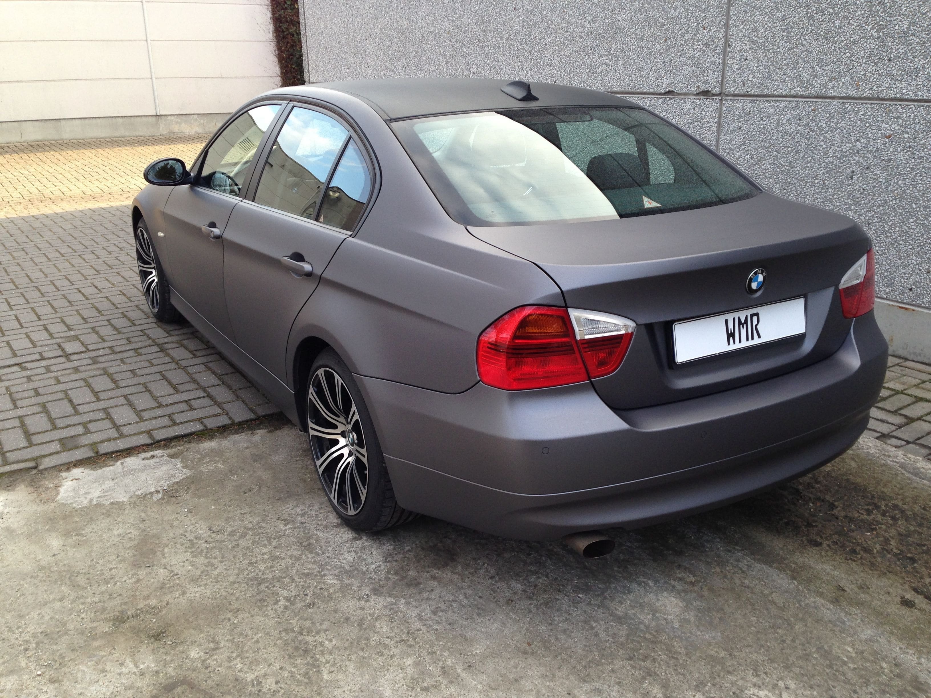 BMW E90 met Gunpowder Wrap, Carwrapping door Wrapmyride.nu Foto-nr:5390, ©2021