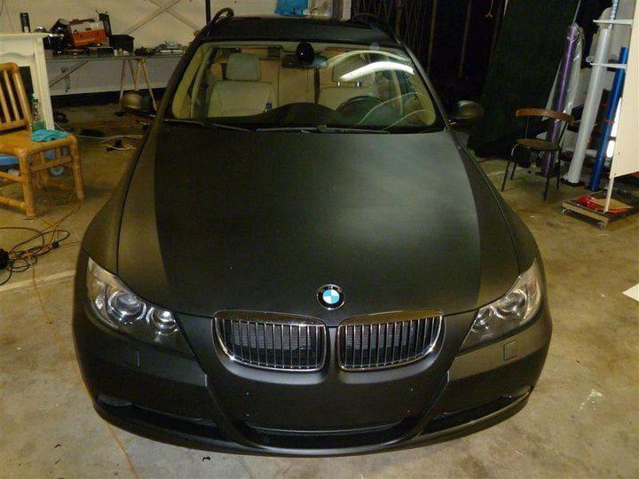 BMW E91 met Mat Zwarte Wrap, Carwrapping door Wrapmyride.nu Foto-nr:5394, ©2021