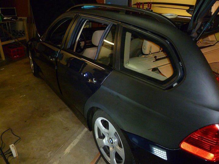 BMW E91 met Mat Zwarte Wrap, Carwrapping door Wrapmyride.nu Foto-nr:5395, ©2021