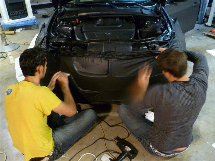 BMW E91 met Mat Zwarte Wrap, Carwrapping door Wrapmyride.nu Foto-nr:5397, ©2021