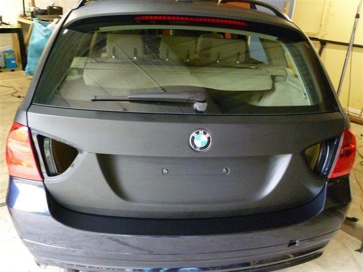 BMW E91 met Mat Zwarte Wrap, Carwrapping door Wrapmyride.nu Foto-nr:5398, ©2021