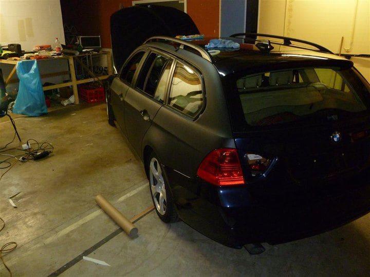 BMW E91 met Mat Zwarte Wrap, Carwrapping door Wrapmyride.nu Foto-nr:5400, ©2021