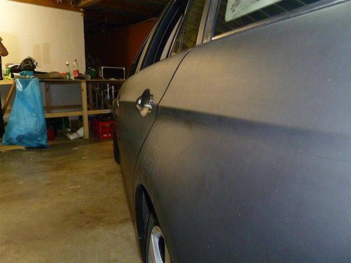 BMW E91 met Mat Zwarte Wrap, Carwrapping door Wrapmyride.nu Foto-nr:5401, ©2021