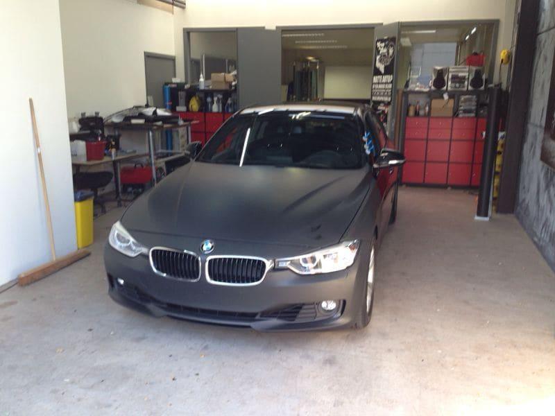 BMW E92 3 Serie met Mat Zwarte Wrap, Carwrapping door Wrapmyride.nu Foto-nr:5403, ©2020