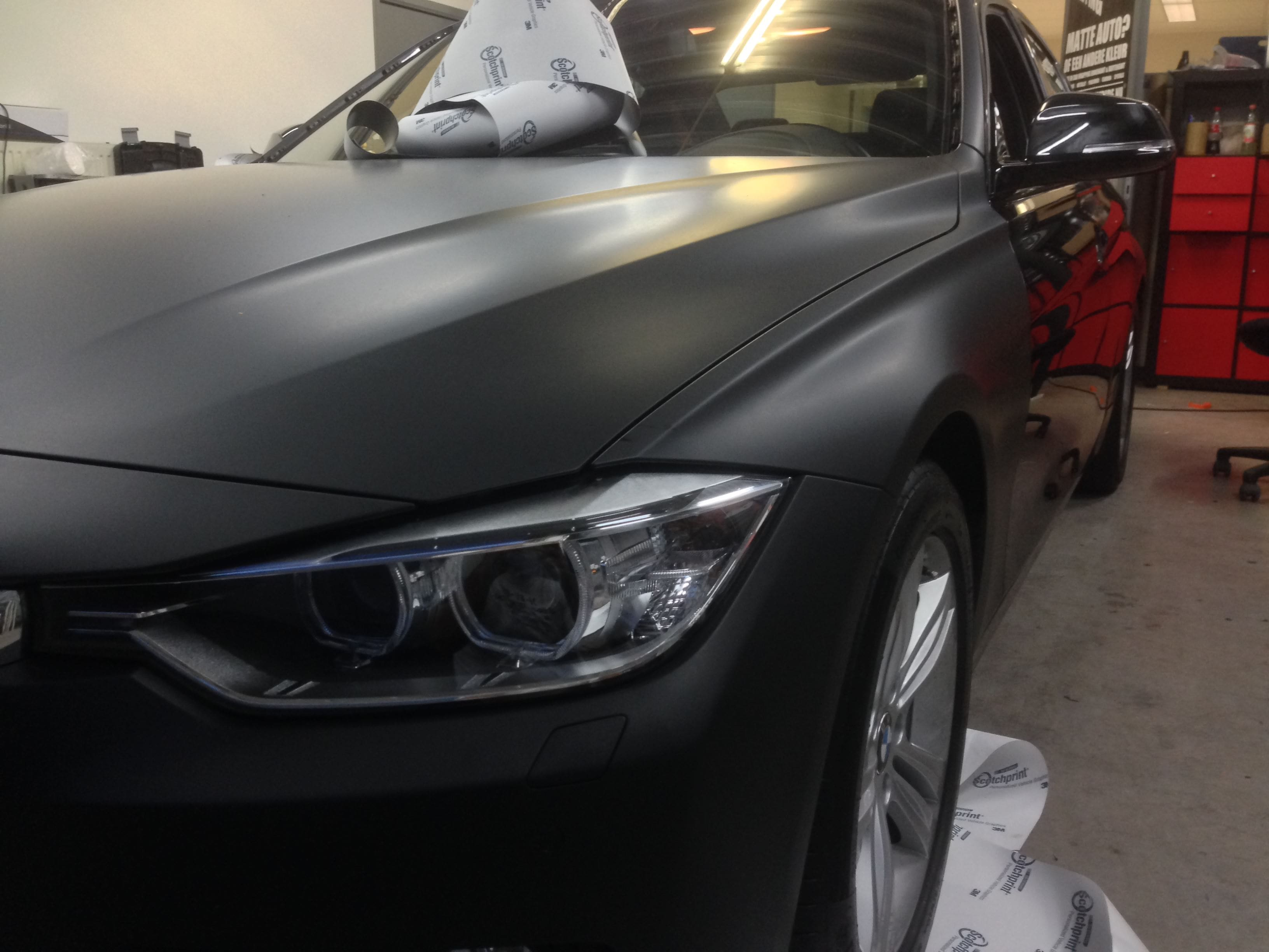 BMW E92 3 Serie met Mat Zwarte Wrap, Carwrapping door Wrapmyride.nu Foto-nr:5404, ©2021