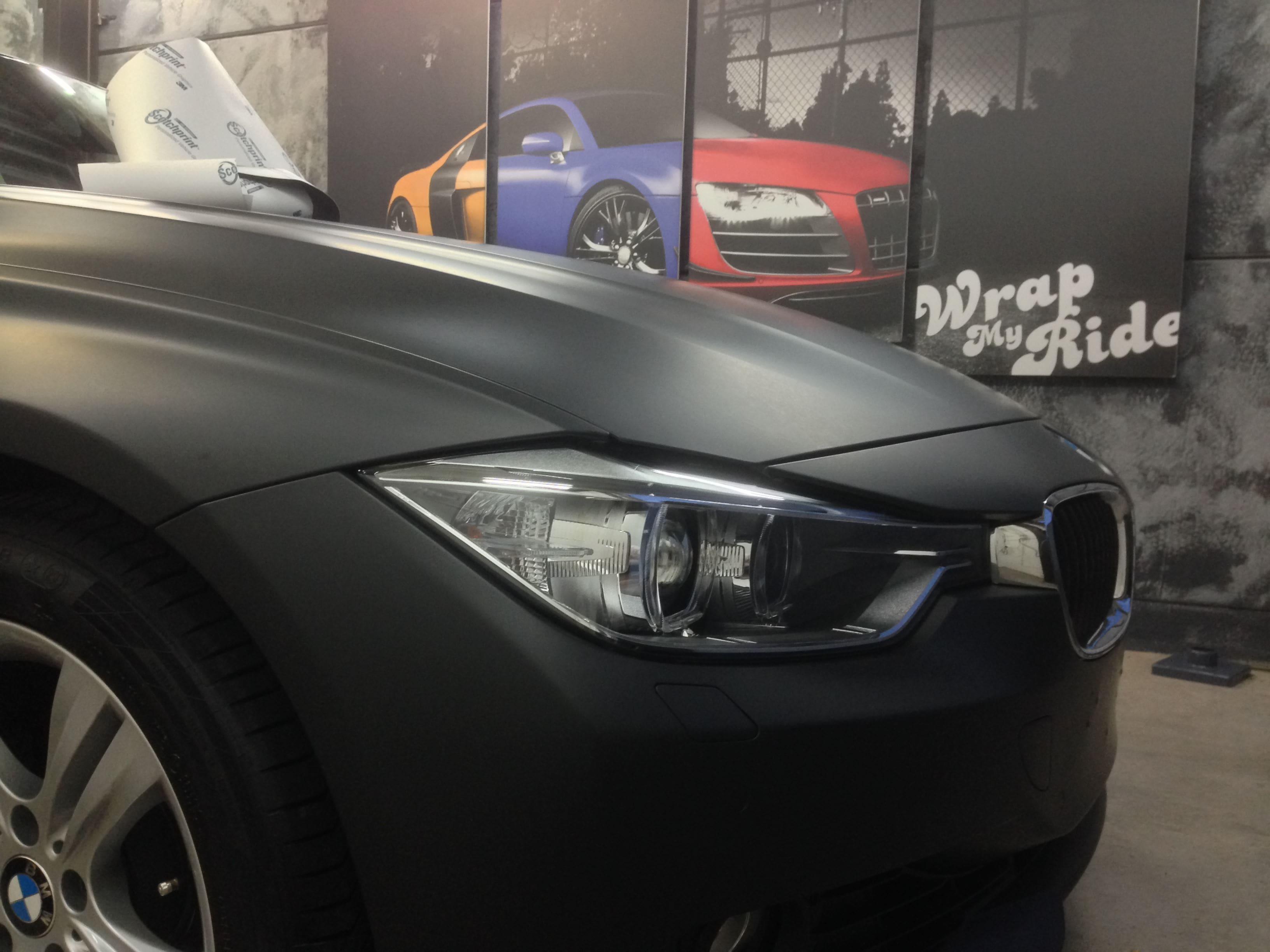 BMW E92 3 Serie met Mat Zwarte Wrap, Carwrapping door Wrapmyride.nu Foto-nr:5406, ©2021