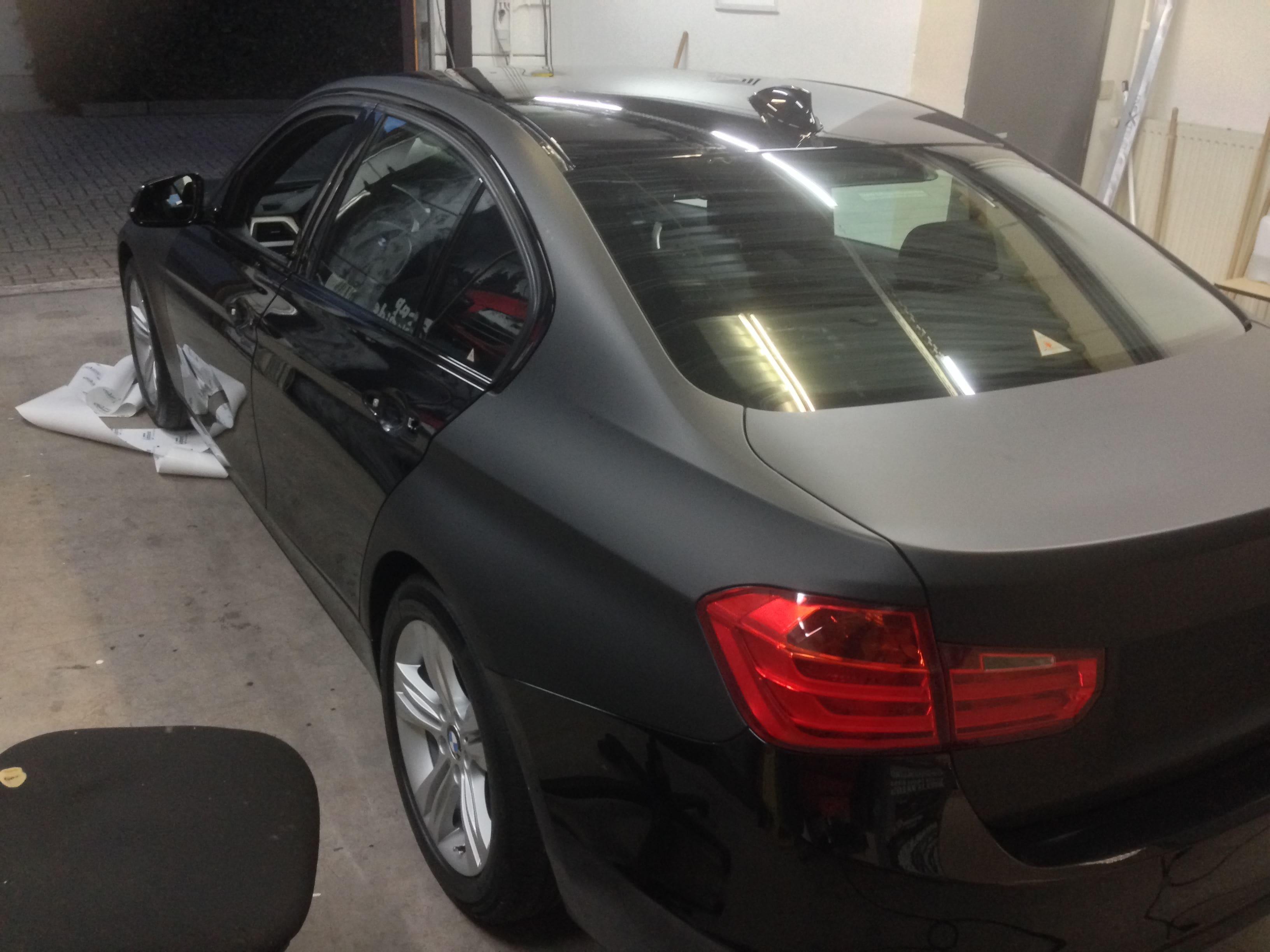 BMW E92 3 Serie met Mat Zwarte Wrap, Carwrapping door Wrapmyride.nu Foto-nr:5407, ©2020