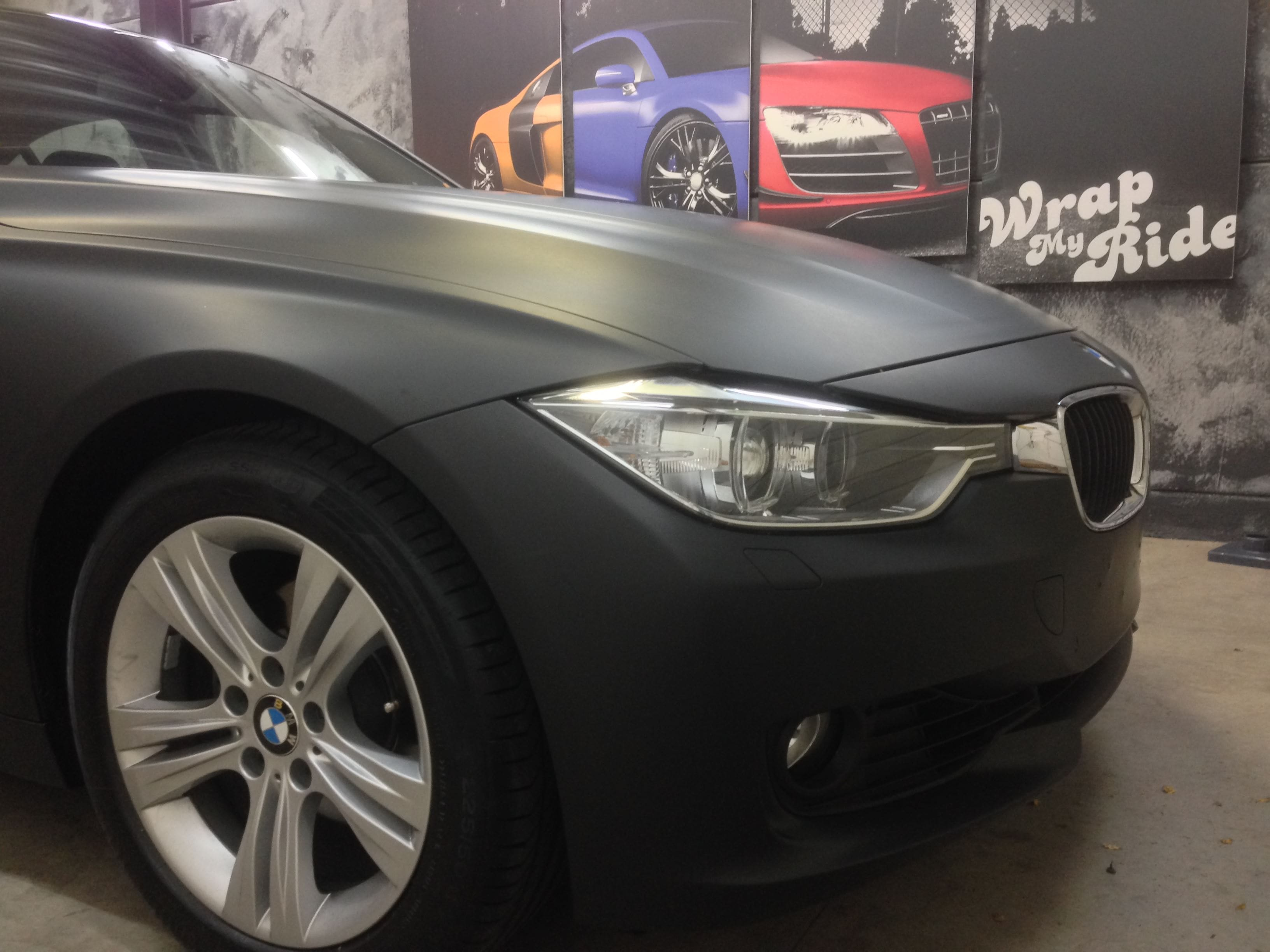 BMW E92 3 Serie met Mat Zwarte Wrap, Carwrapping door Wrapmyride.nu Foto-nr:5408, ©2020