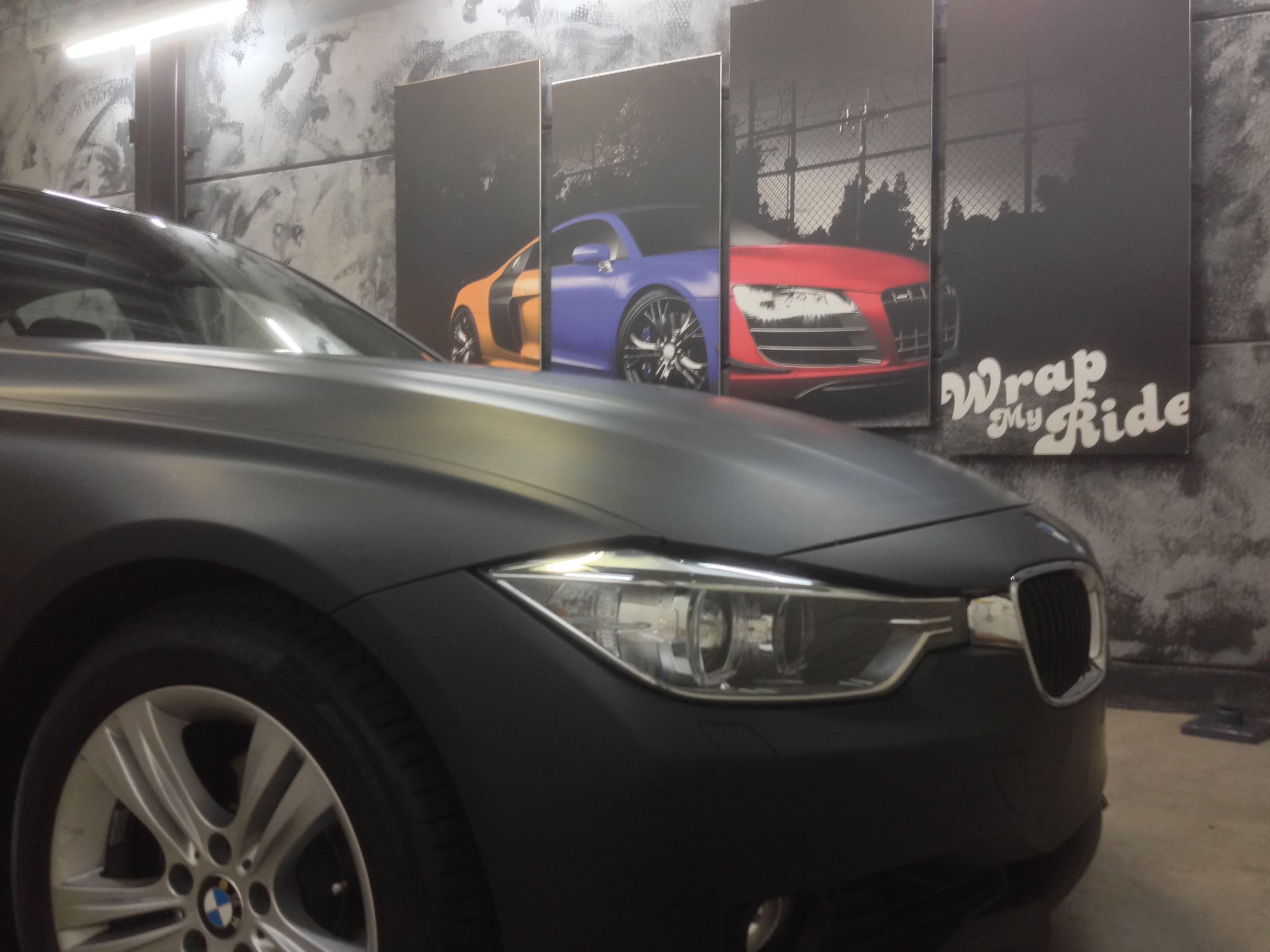 BMW E92 3 Serie met Mat Zwarte Wrap, Carwrapping door Wrapmyride.nu Foto-nr:5409, ©2020