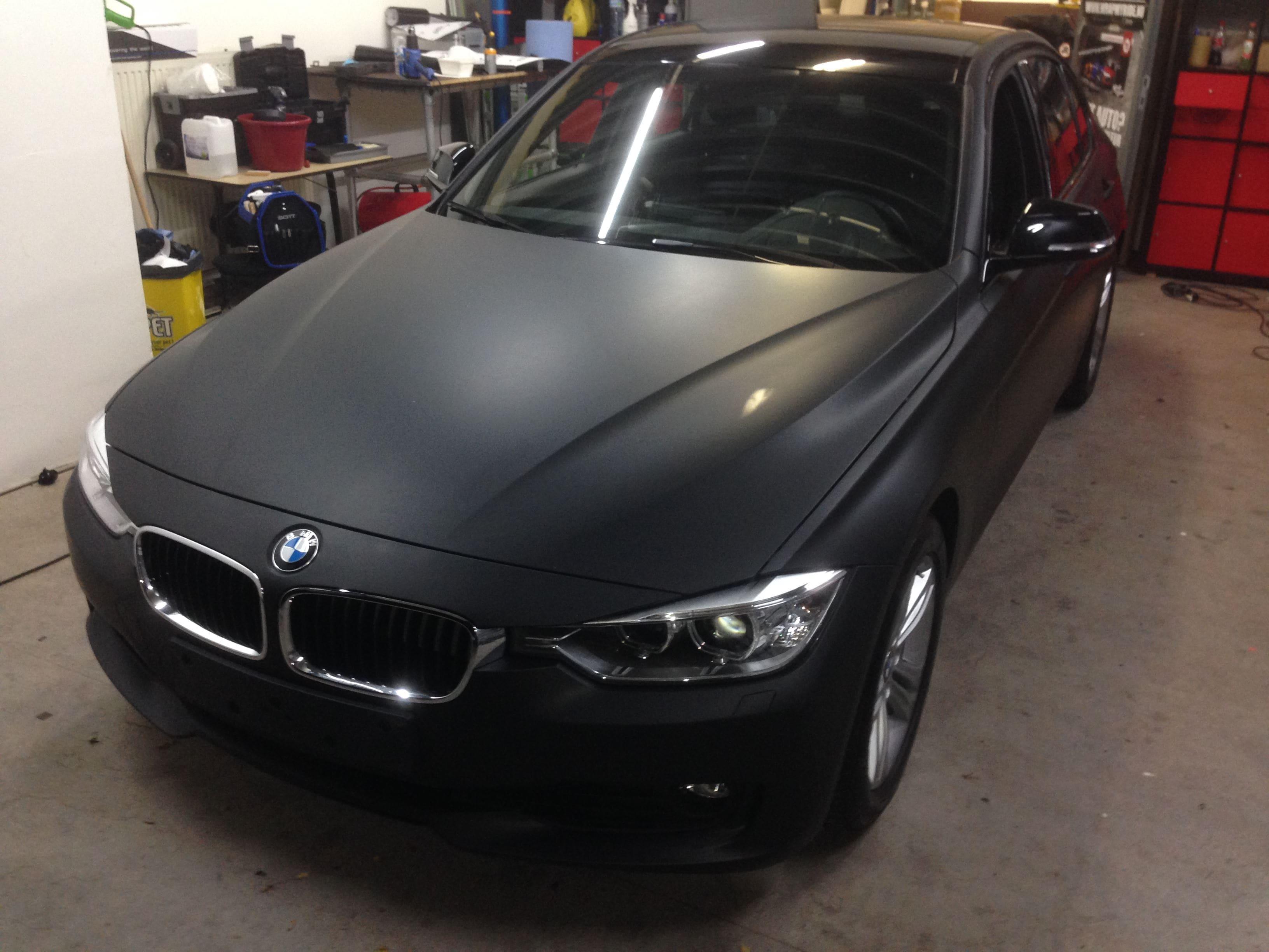 BMW E92 3 Serie met Mat Zwarte Wrap, Carwrapping door Wrapmyride.nu Foto-nr:5414, ©2021