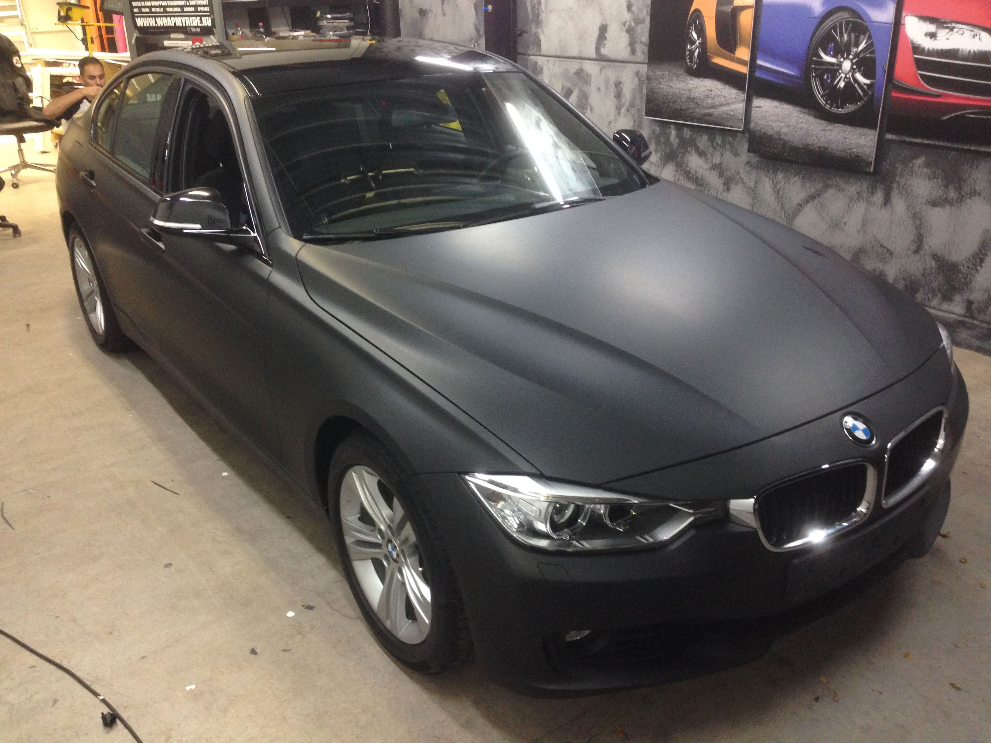 BMW E92 3 Serie met Mat Zwarte Wrap, Carwrapping door Wrapmyride.nu Foto-nr:5415, ©2021