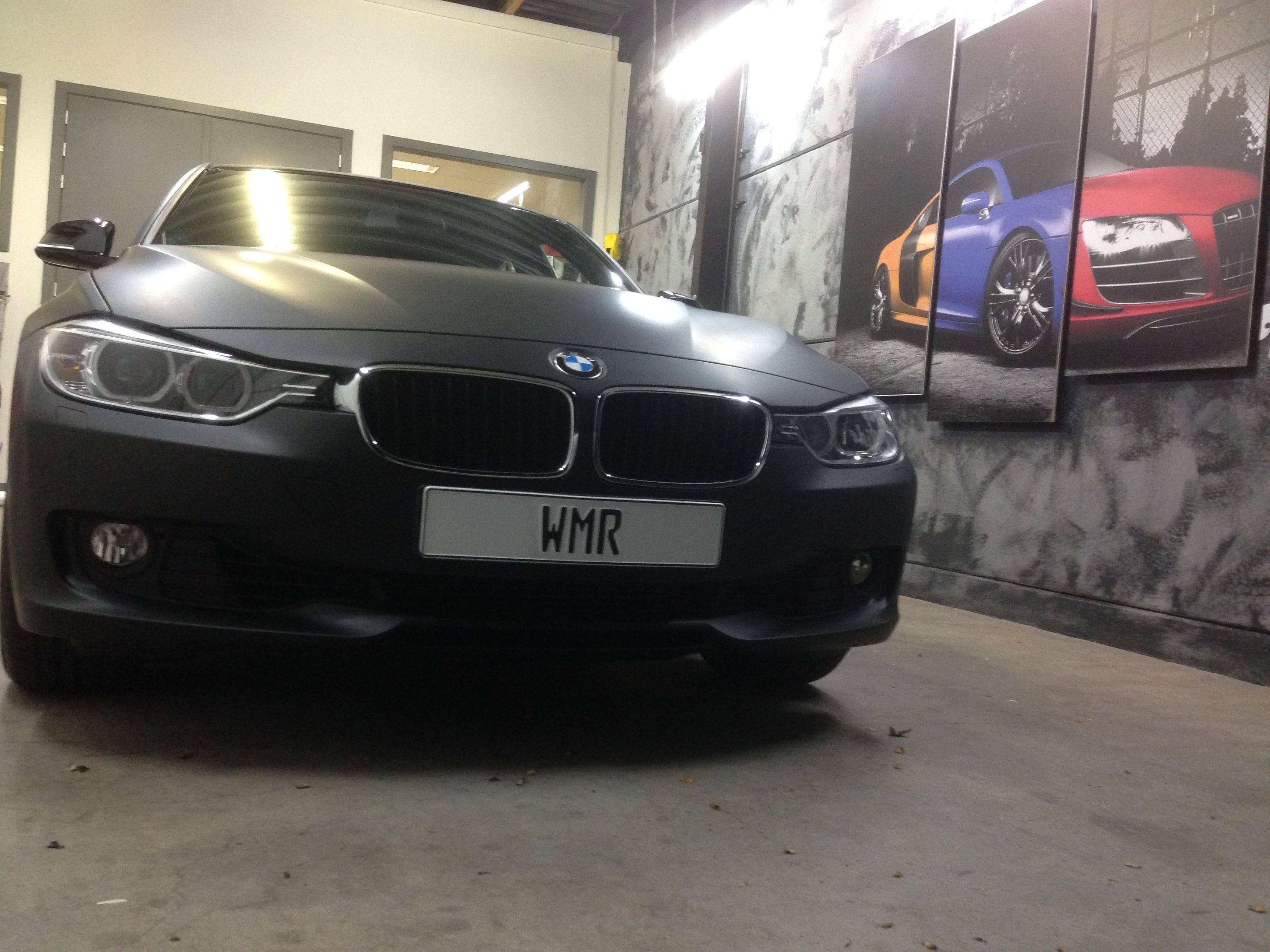 BMW E92 3 Serie met Mat Zwarte Wrap, Carwrapping door Wrapmyride.nu Foto-nr:5420, ©2020