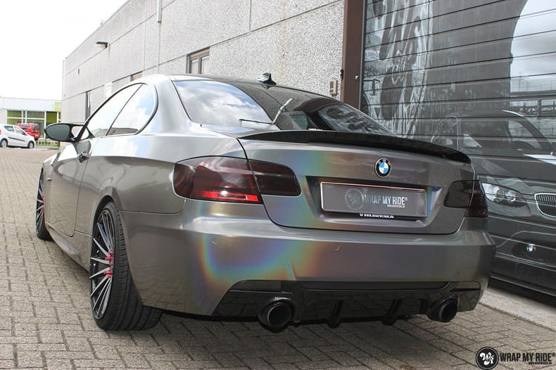 BMW E92 Coupe 3M gloss flip Psycedelic, Carwrapping door Wrapmyride.nu Foto-nr:10255, ©2018