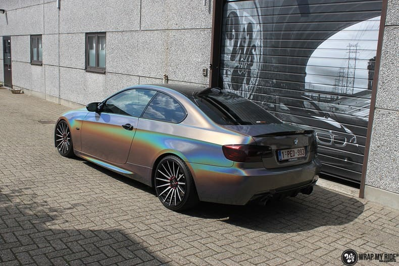 BMW E92 Coupe 3M gloss flip Psycedelic, Carwrapping door Wrapmyride.nu Foto-nr:10251, ©2018