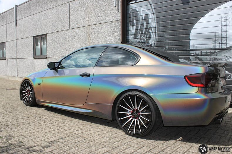 BMW E92 Coupe 3M gloss flip Psycedelic, Carwrapping door Wrapmyride.nu Foto-nr:10250, ©2018