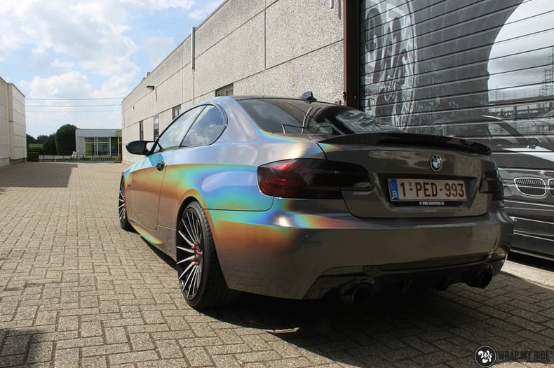 BMW E92 Coupe 3M gloss flip Psycedelic, Carwrapping door Wrapmyride.nu Foto-nr:10249, ©2018