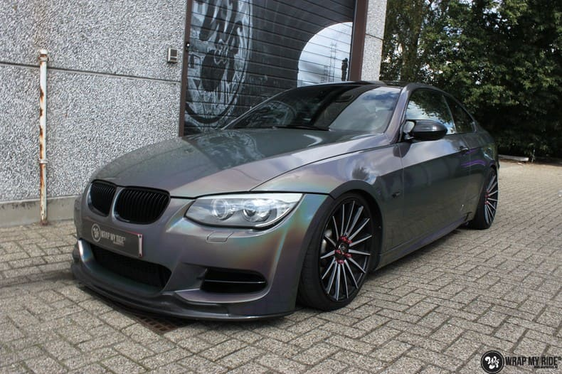 BMW E92 Coupe 3M gloss flip Psycedelic, Carwrapping door Wrapmyride.nu Foto-nr:10247, ©2018