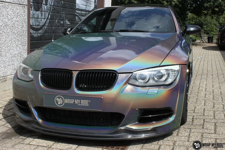 BMW E92 Coupe 3M gloss flip Psycedelic, Carwrapping door Wrapmyride.nu Foto-nr:10246, ©2018