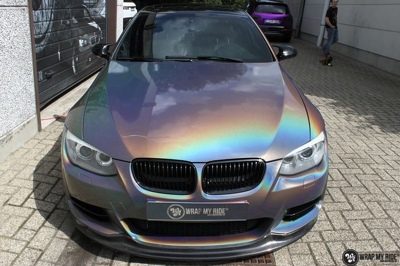 BMW E92 Coupe 3M gloss flip Psycedelic, Carwrapping door Wrapmyride.nu Foto-nr:10244, ©2020