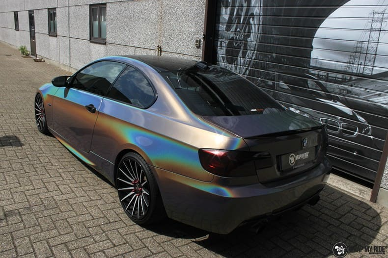 BMW E92 Coupe 3M gloss flip Psycedelic, Carwrapping door Wrapmyride.nu Foto-nr:10242, ©2018
