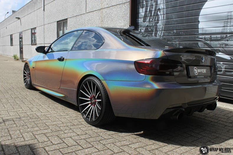 BMW E92 Coupe 3M gloss flip Psycedelic, Carwrapping door Wrapmyride.nu Foto-nr:10241, ©2018
