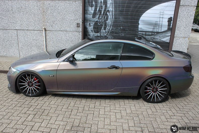 BMW E92 Coupe 3M gloss flip Psycedelic, Carwrapping door Wrapmyride.nu Foto-nr:10239, ©2018